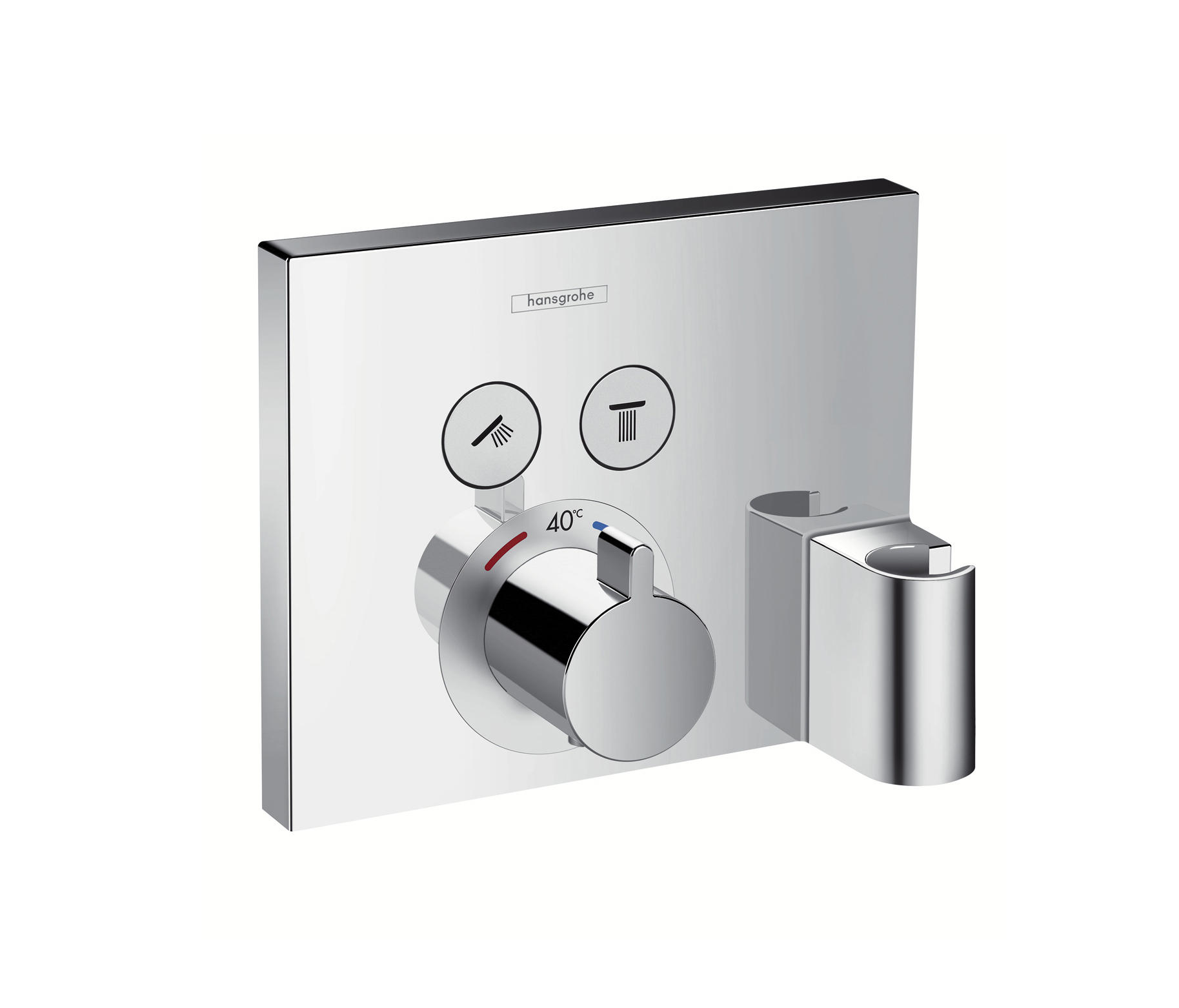 hansgrohe hg ecostat select thermostat up fertigset 2 av porter chrom robinetterie de douche de. Black Bedroom Furniture Sets. Home Design Ideas
