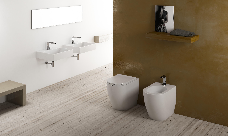 Ceramica Cielo smile wall hung washbasin 50 - wash basins from ceramica cielo