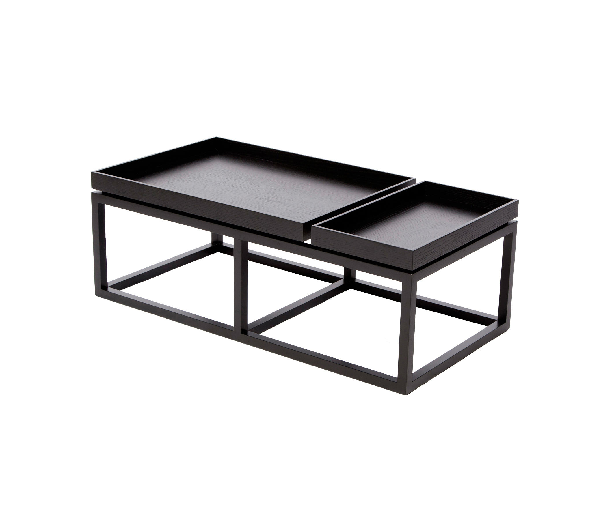 Coffee Table Tray Black Wood Walnut By Norr11 Tables