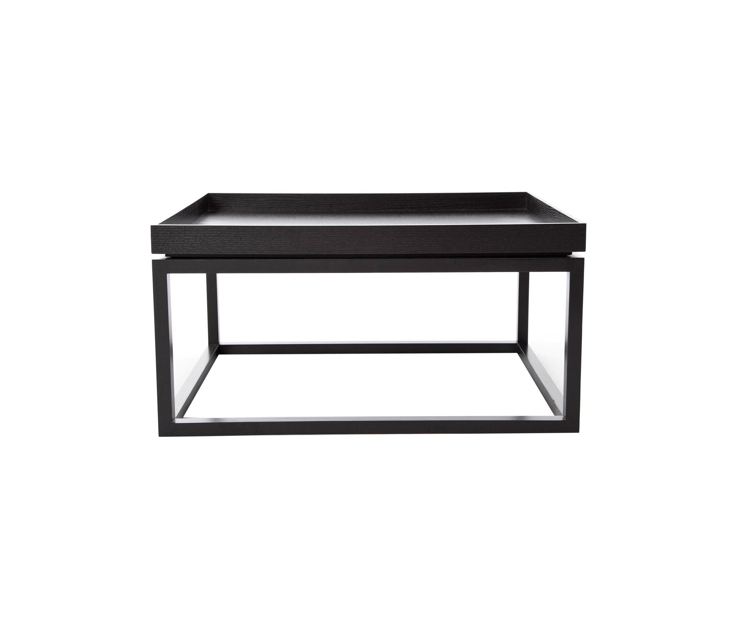 Norr11 Coffee Table Tray: COFFEE TABLE TIP, BLACK: WOOD WALNUT