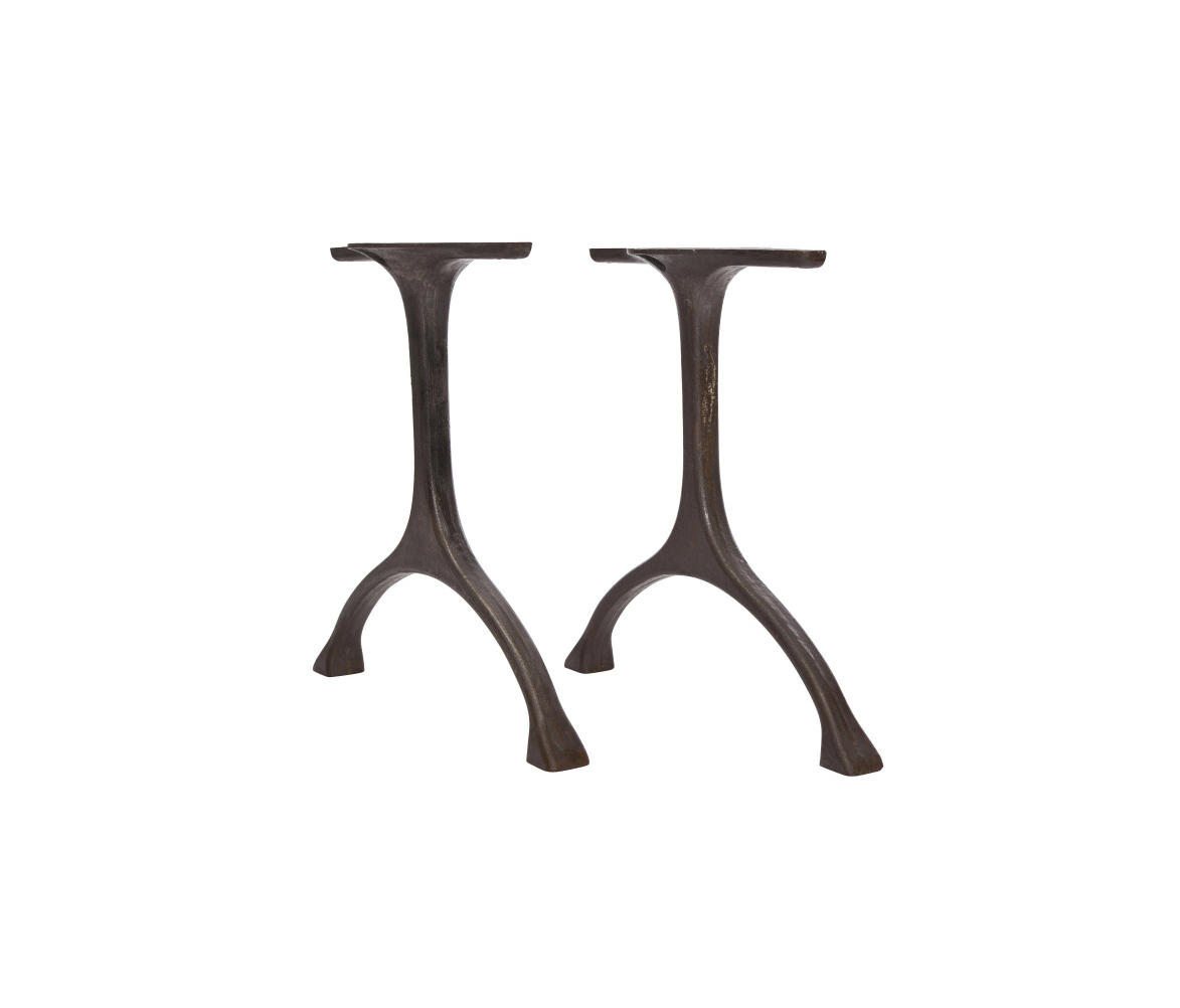 Table Legs Maiden Set Iron Tall Raw Natural By Norr11 Trestles