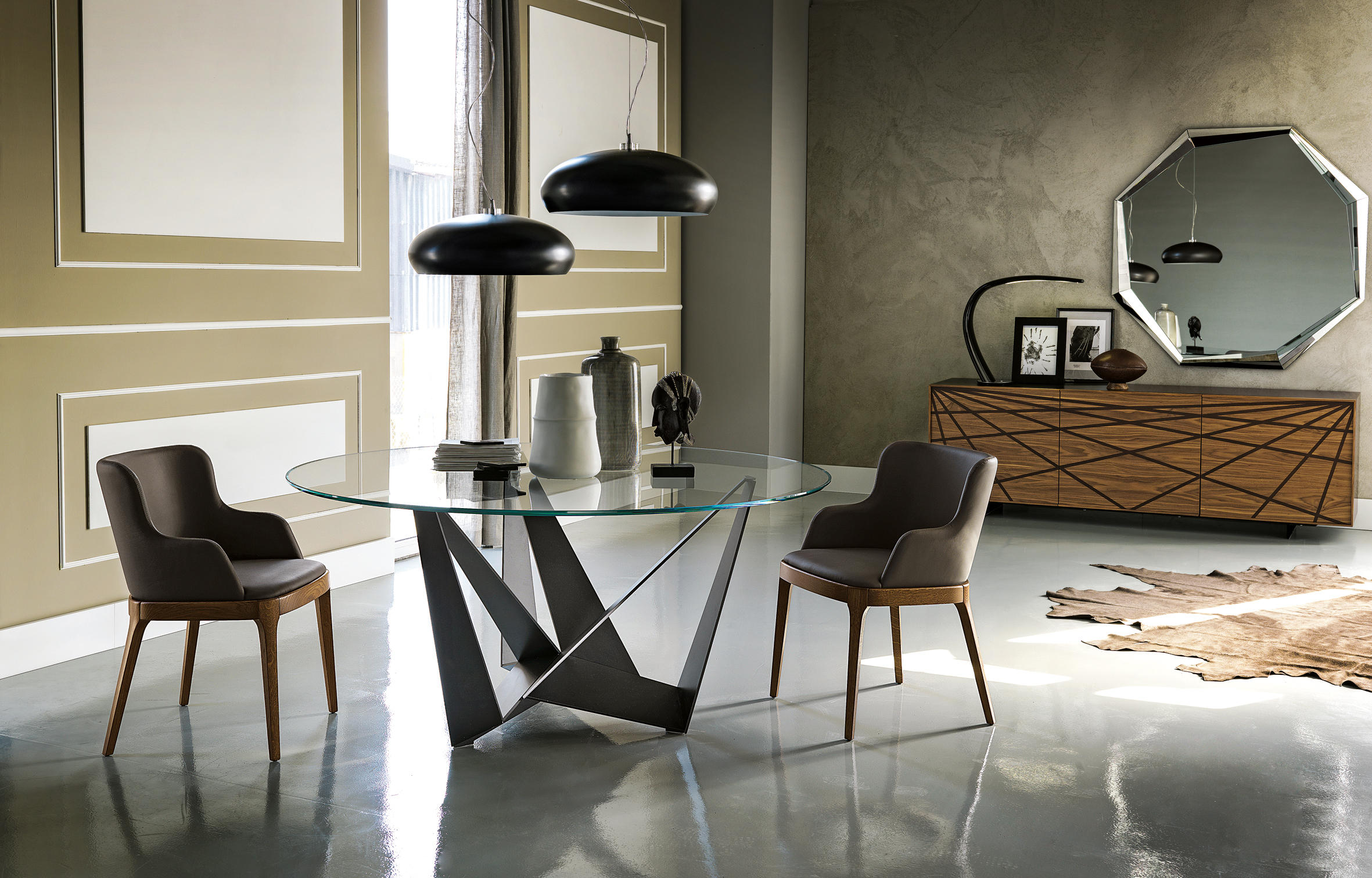 skorpio round dining tables from cattelan italia. Black Bedroom Furniture Sets. Home Design Ideas