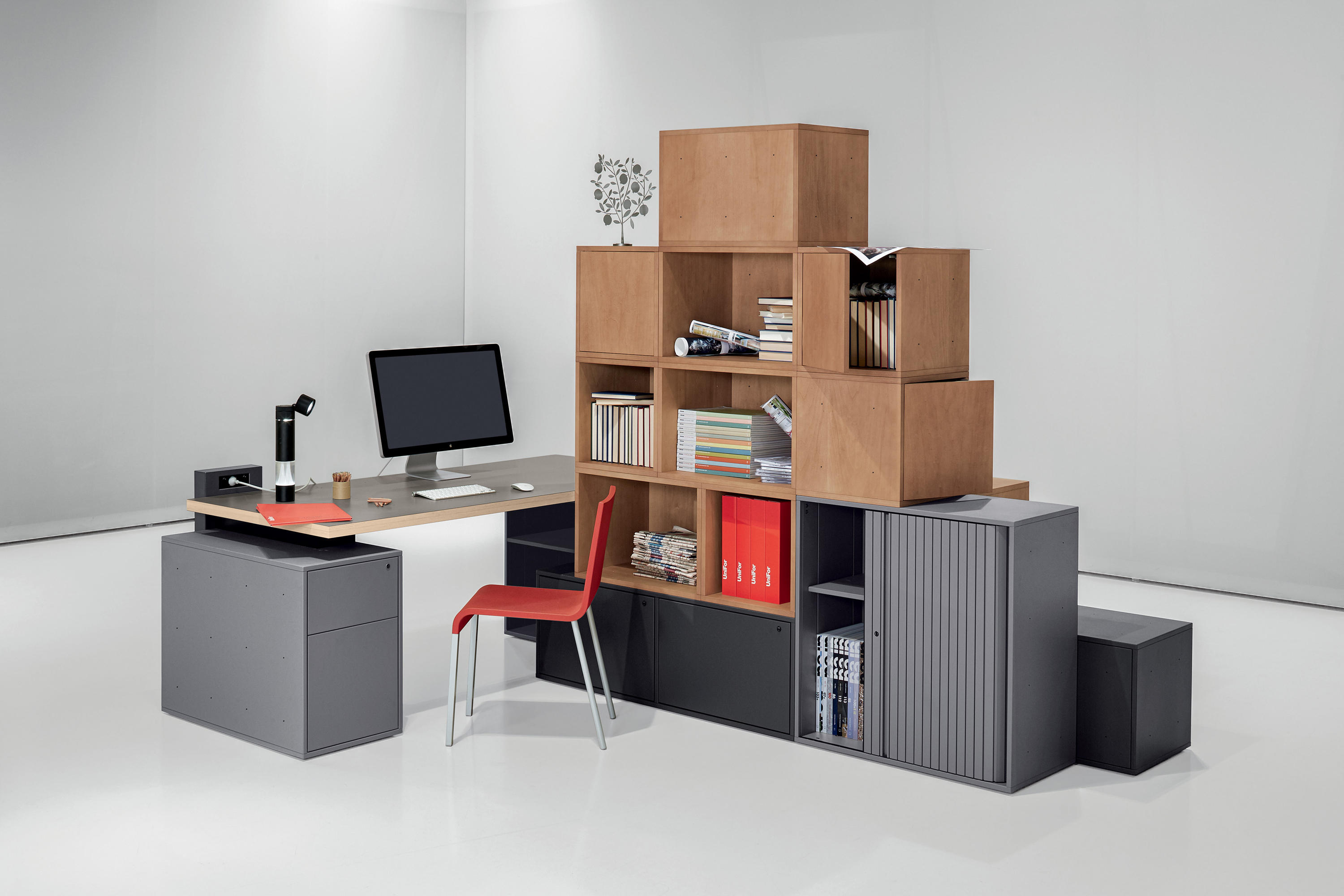 Sistema cases shelving from unifor architonic for Unifor turate