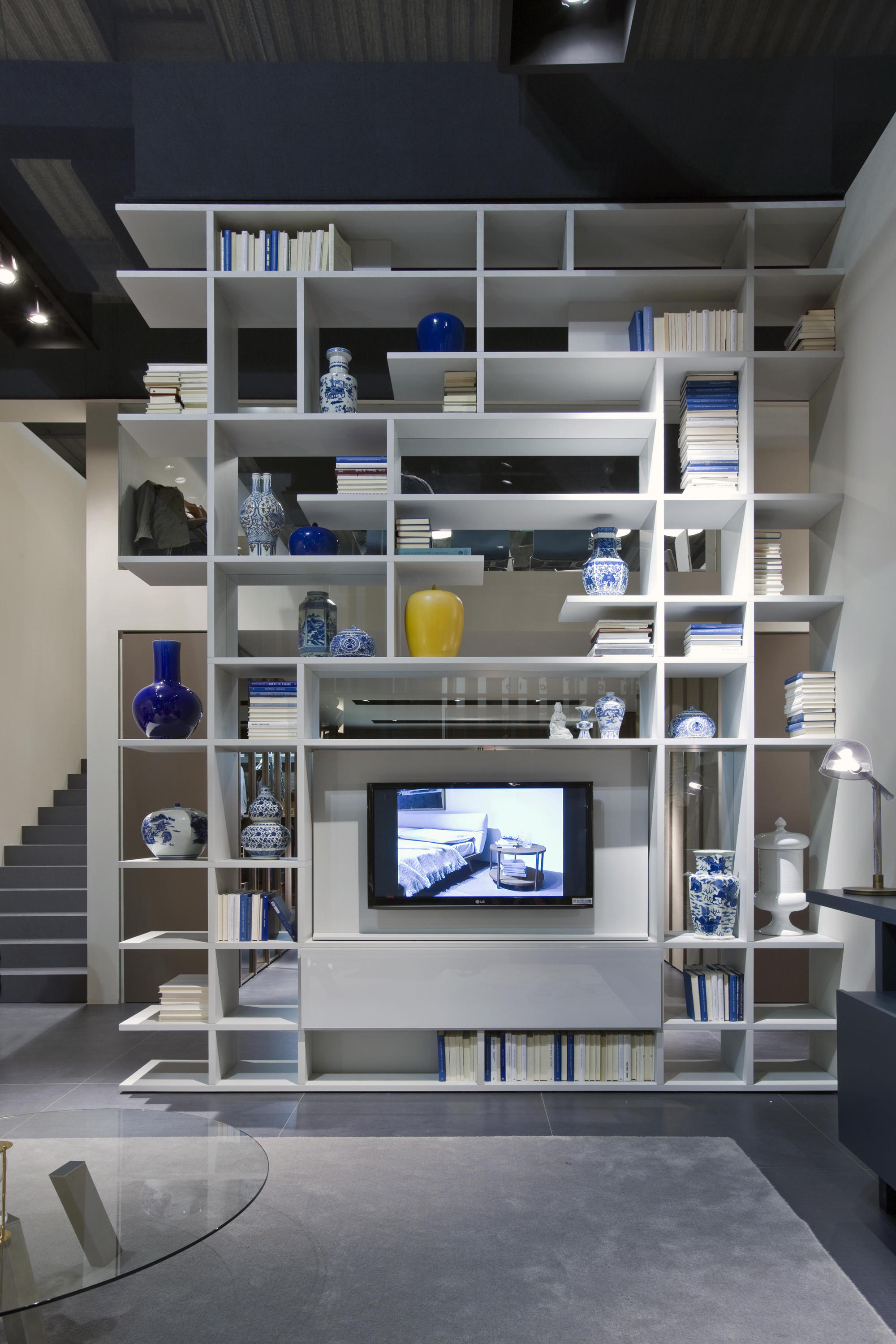 Set System With Tv Panel Wall Storage Systems From