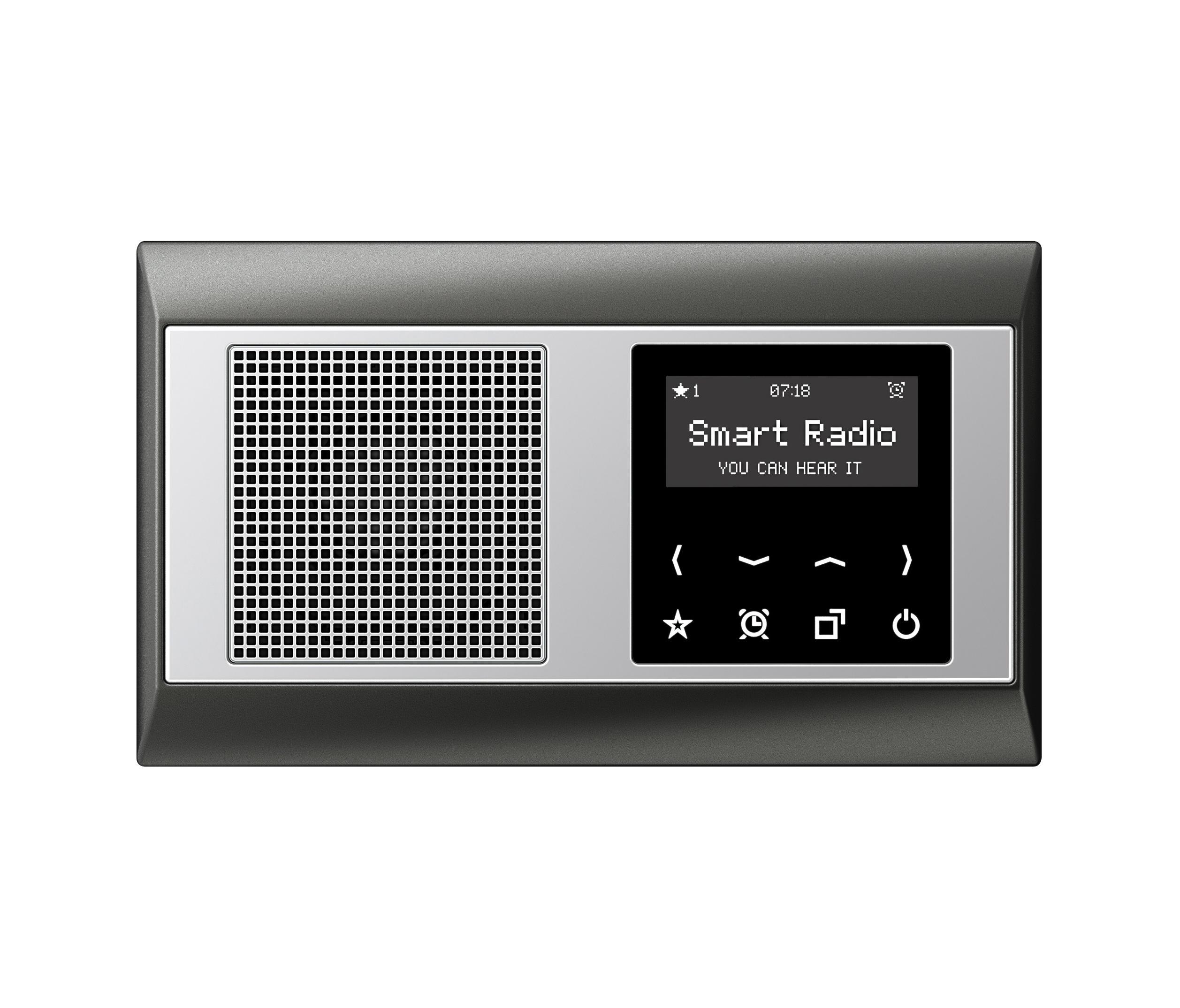 smart radio a plus soundmanagement multimedia von jung. Black Bedroom Furniture Sets. Home Design Ideas