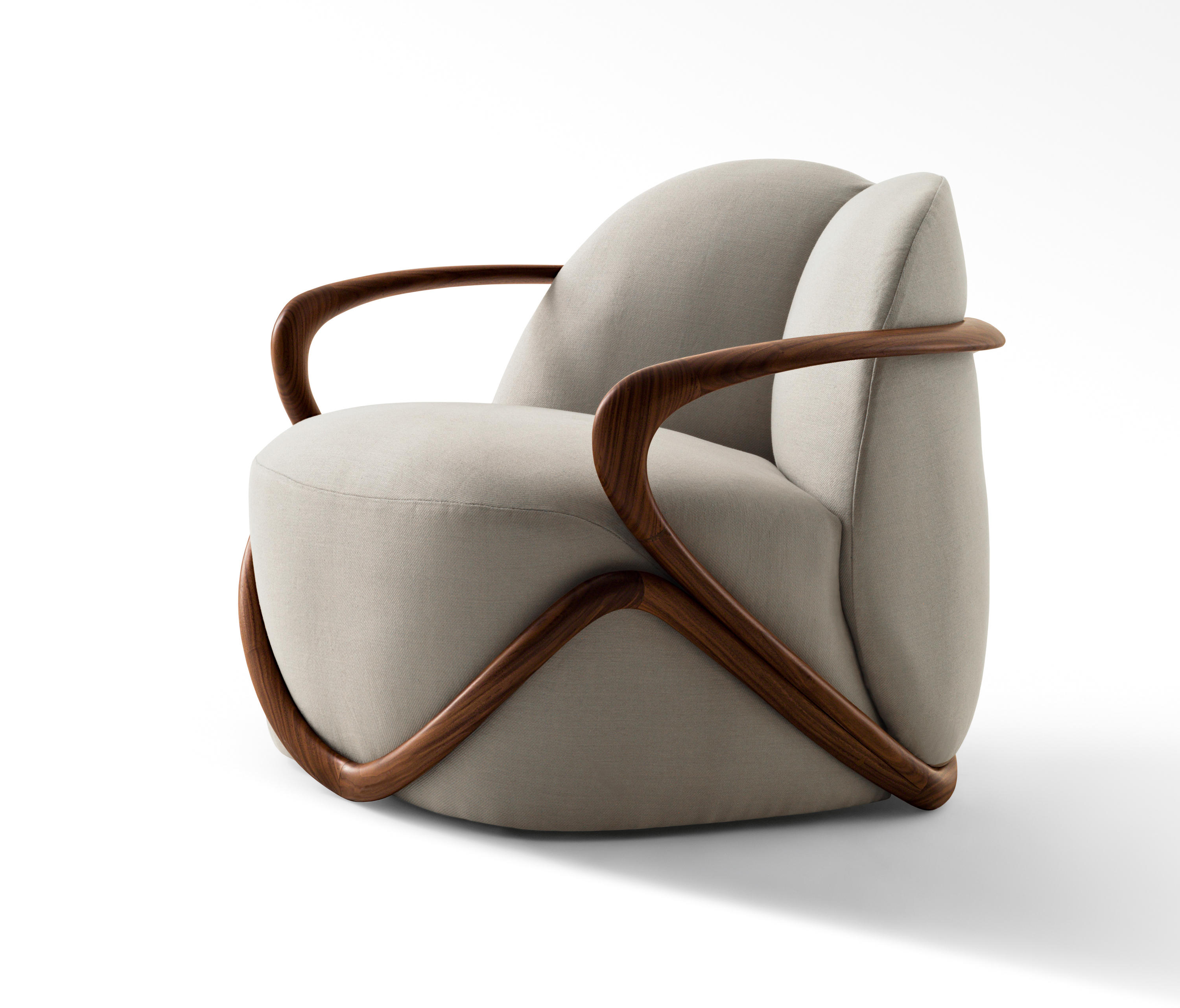 Hug armchair lounge chairs from giorgetti architonic for Armchair furniture