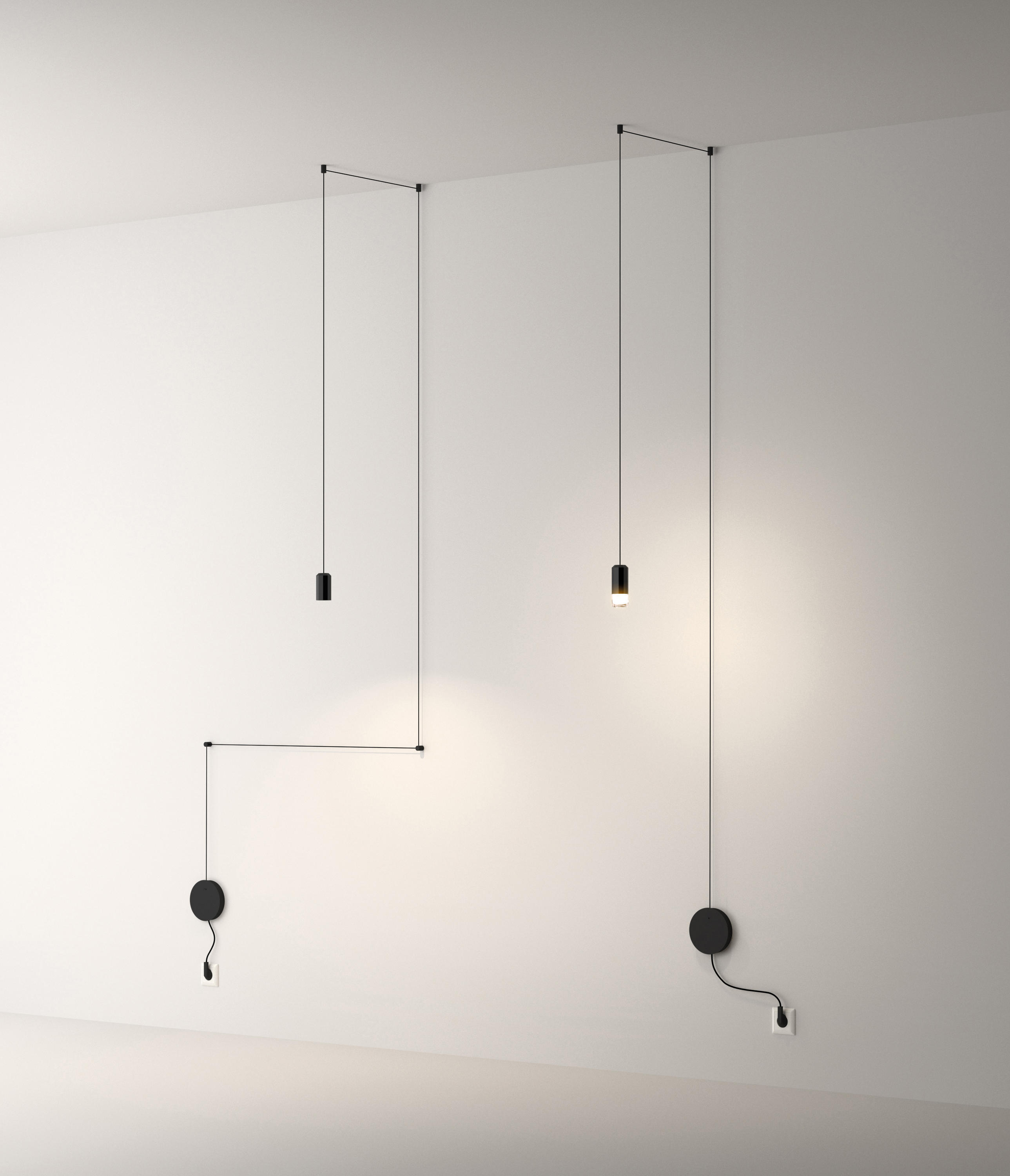 wireflow free form pendant lamp general lighting from vibia architonic. Black Bedroom Furniture Sets. Home Design Ideas