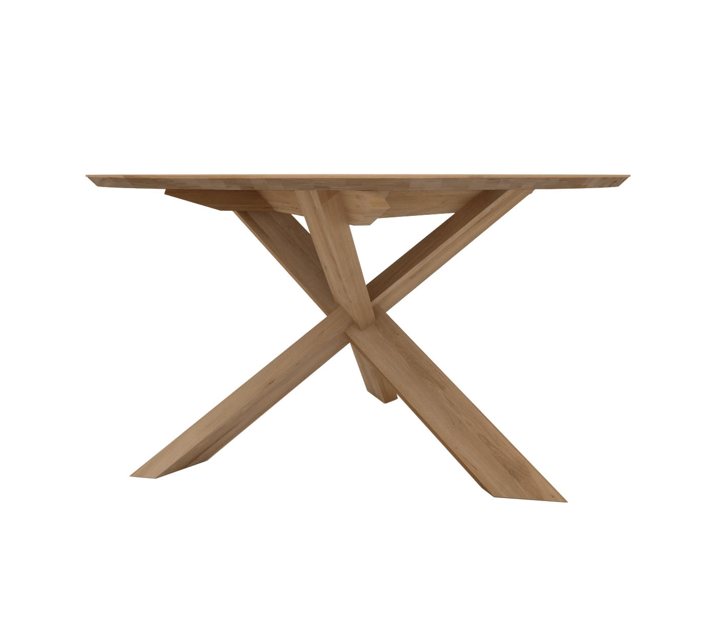 OAK CIRCLE DINING TABLE Dining Tables From Ethnicraft Architonic - Circular dining table with extension