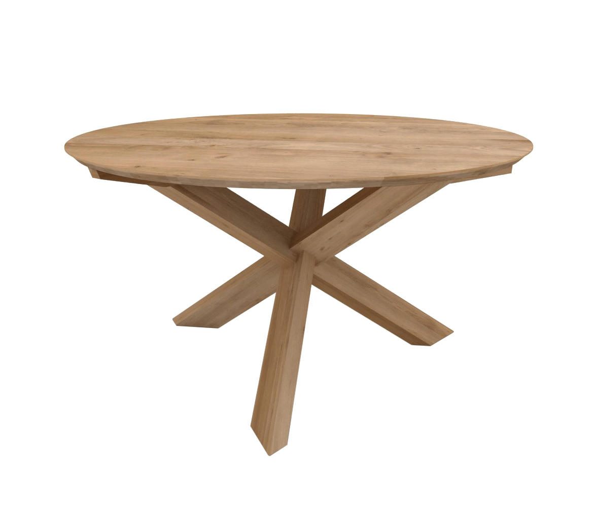 Oak Circle Dining Table Restaurant Tables From Ethnicraft Architonic 3 Legged Round
