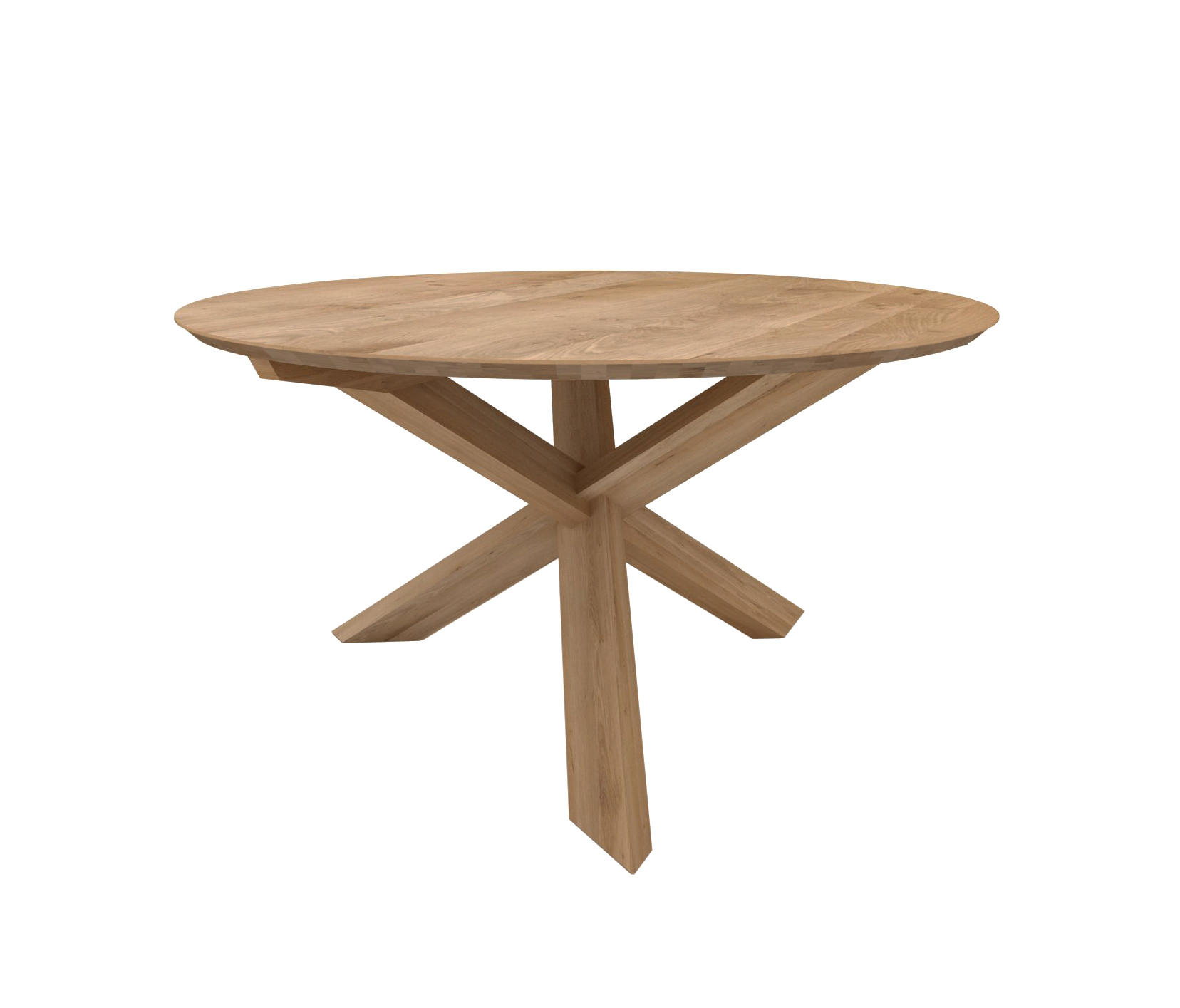Oak circle dining table restaurant tables from for Circle furniture dining tables