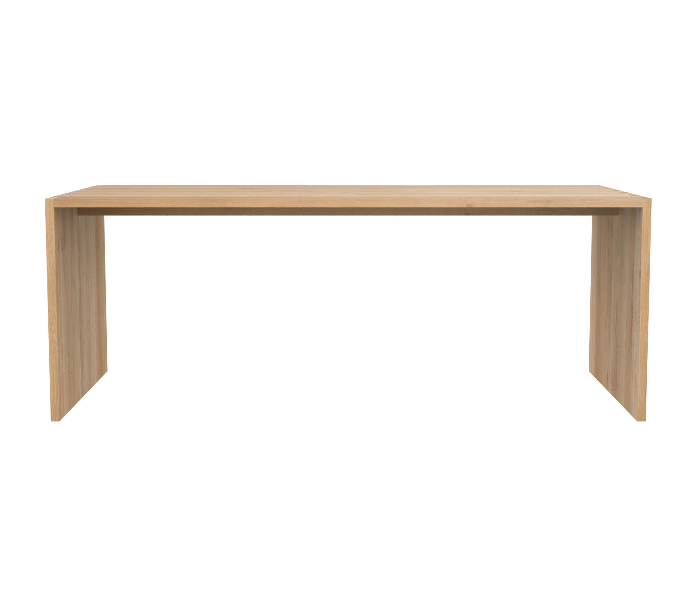 Oak office u table dining tables from ethnicraft for Table cuisine 75 x 75