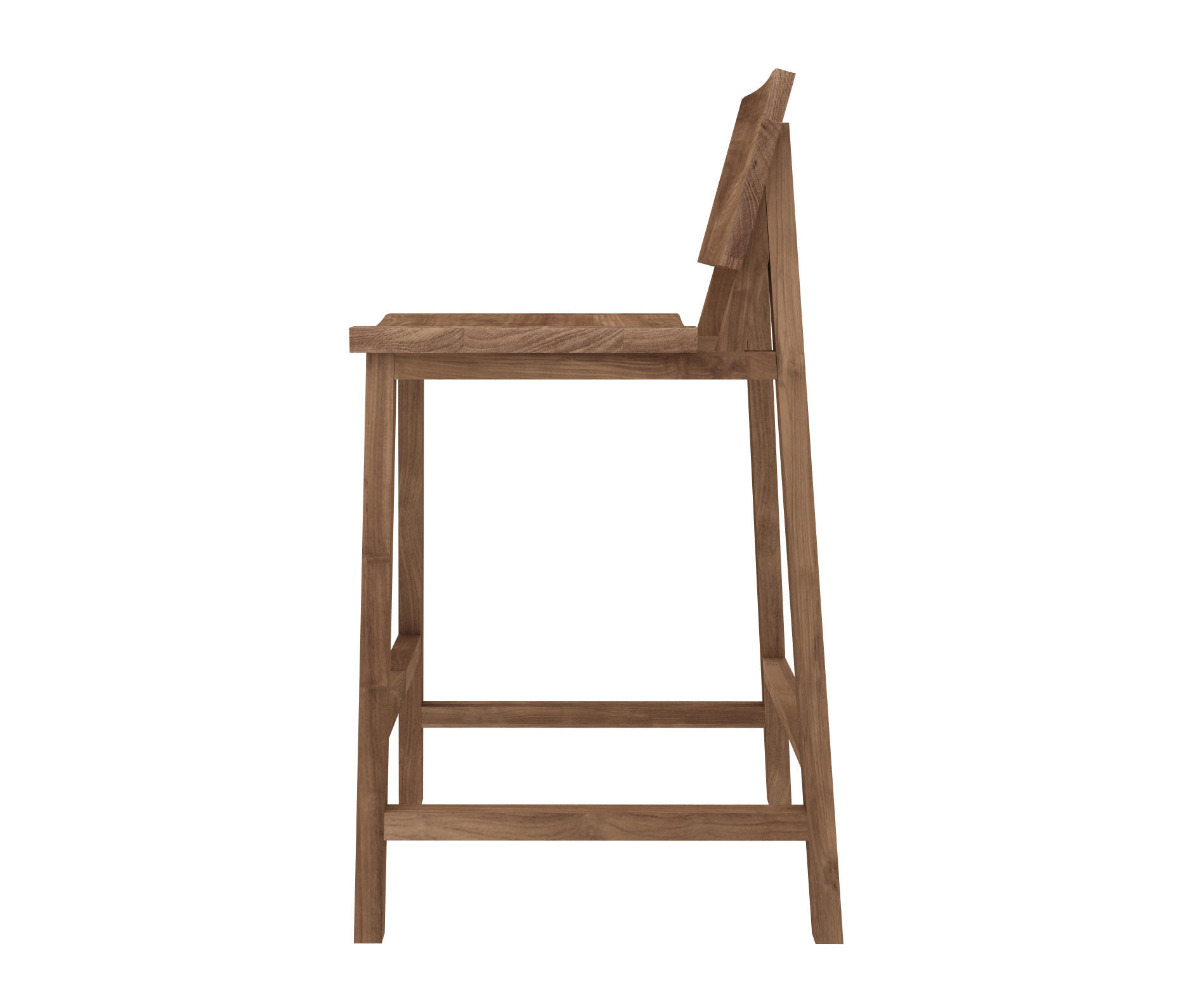Teak n3 kitchen counter stool by ethnicraft bar stools
