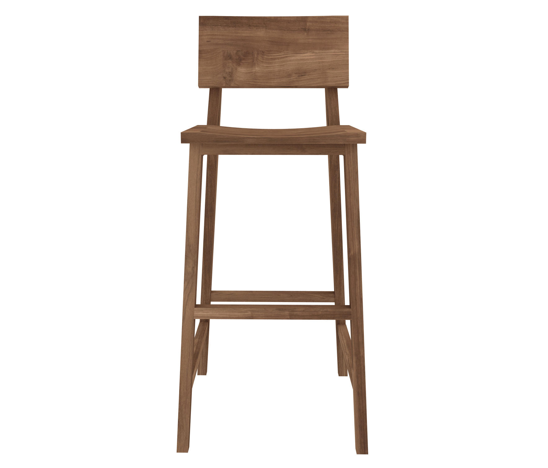 Teak N4 High Chair By Ethnicraft Bar Stools