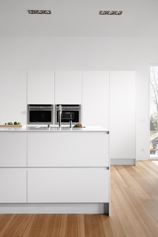 Serie 45 polar white island kitchens from dica - Muebles de cocina dica ...