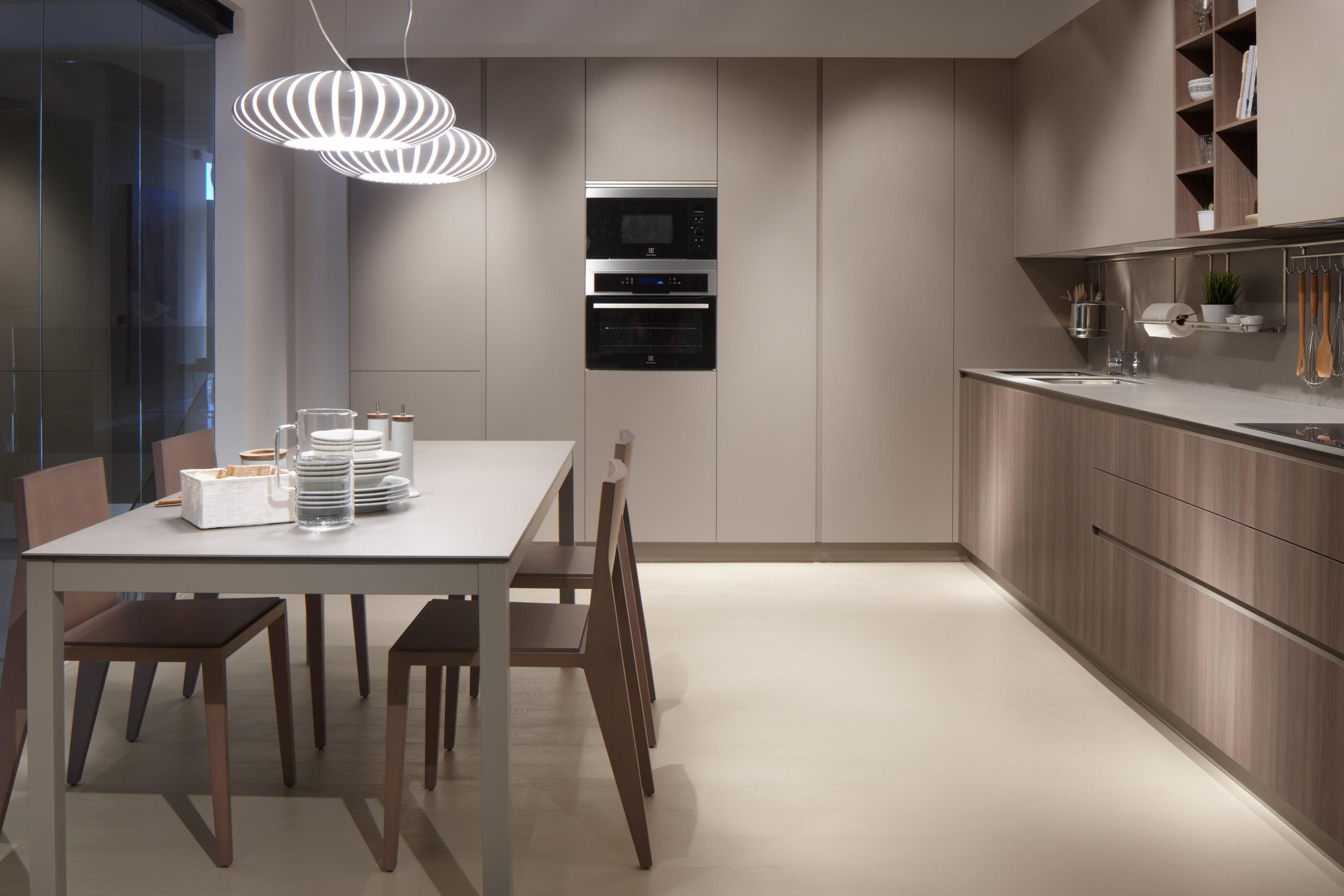 Serie 45 elm chocolate stone fitted kitchens from dica - Muebles de cocina dica ...