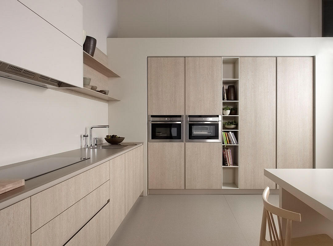 Serie 45 oak clear shaded fitted kitchens from dica - Muebles de cocina dica ...