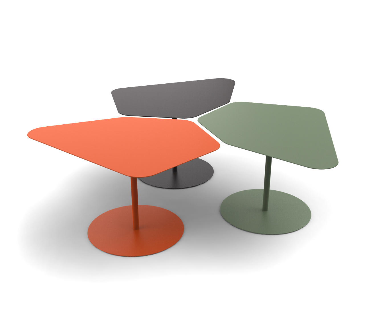 Kona low table coffee tables from mati re grise architonic - Table grise conforama ...