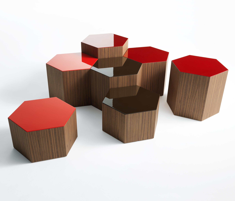 table basse bois hexagonale. Black Bedroom Furniture Sets. Home Design Ideas