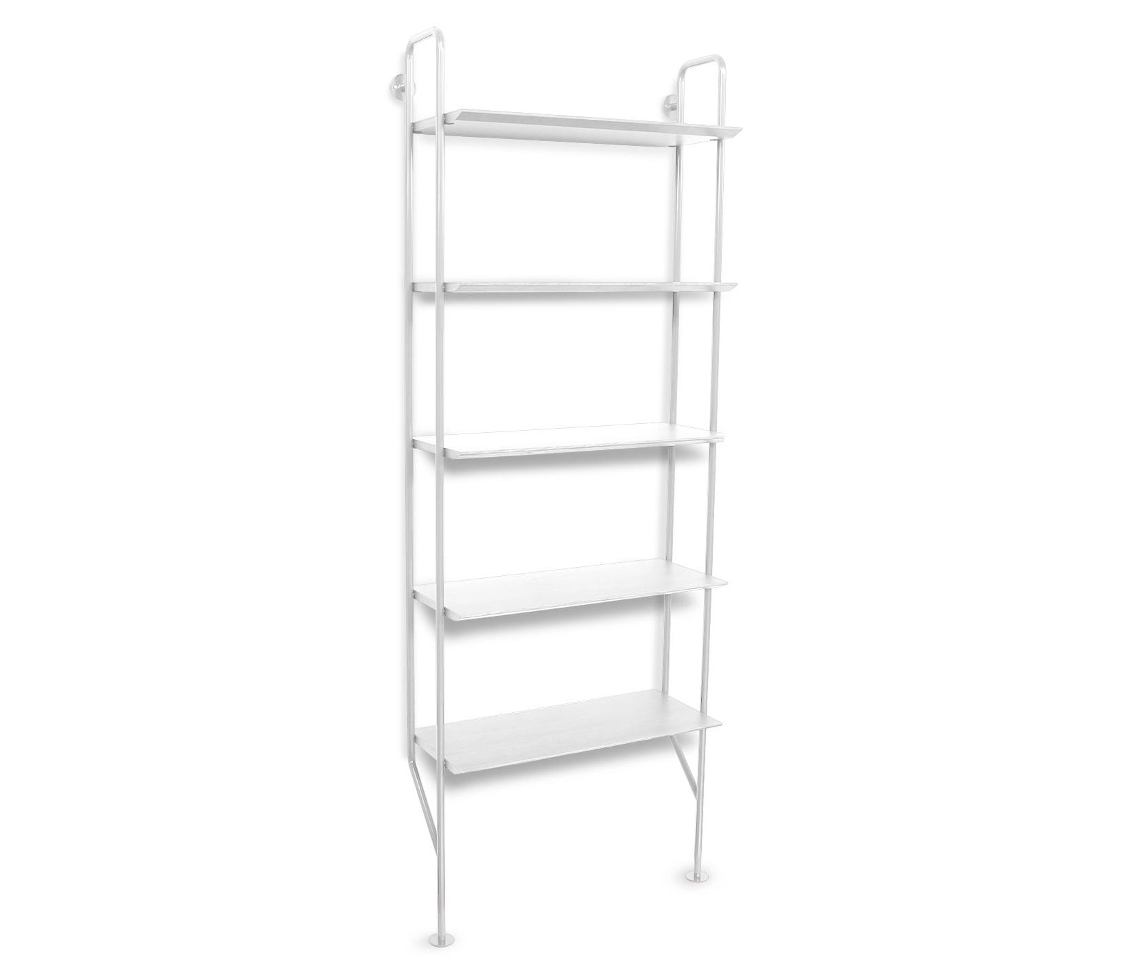 bookcase wicker concepts raw tier with magnifier shelves metal