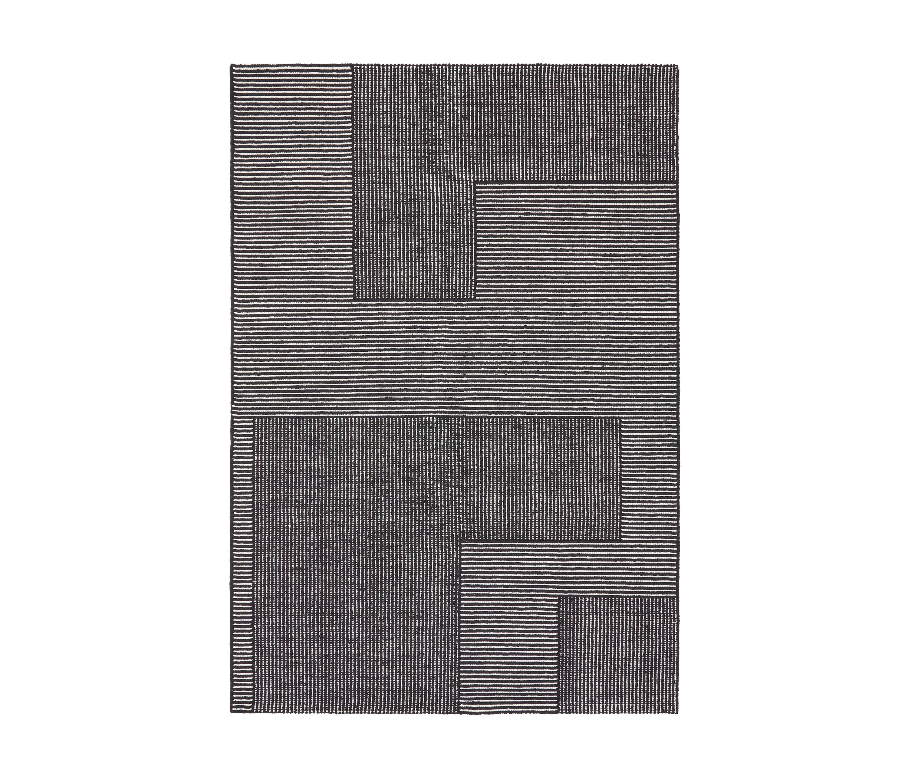 Stripe Rug Rectangular Black And White Formatteppiche Von Tom