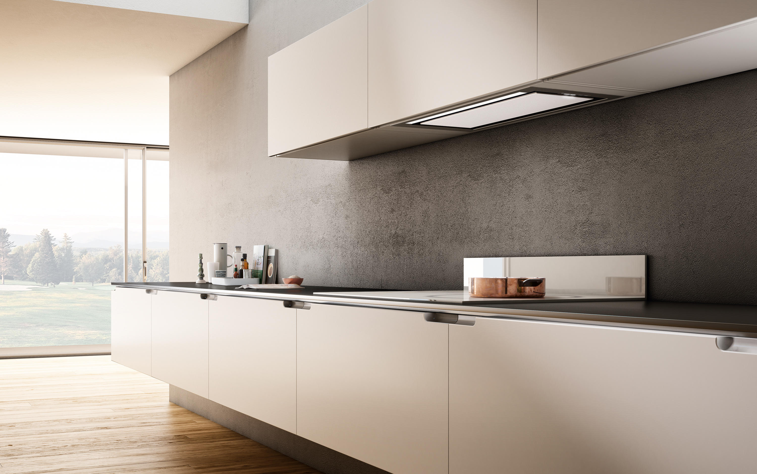 Hidden Built In Kitchen Hoods From Elica Architonic