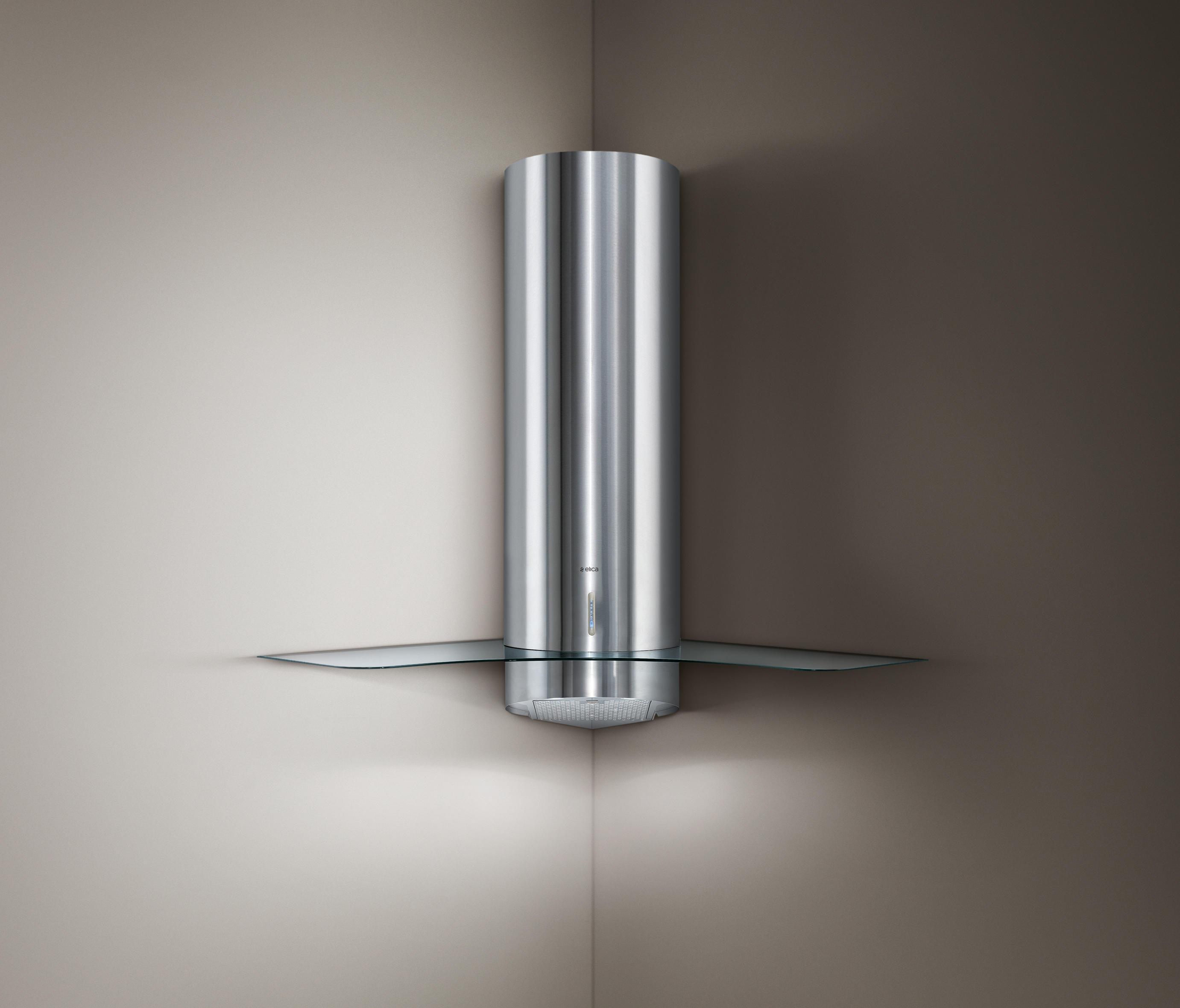 Personal corner mounted kuchenabzugshauben von elica for Küchenabzugshauben