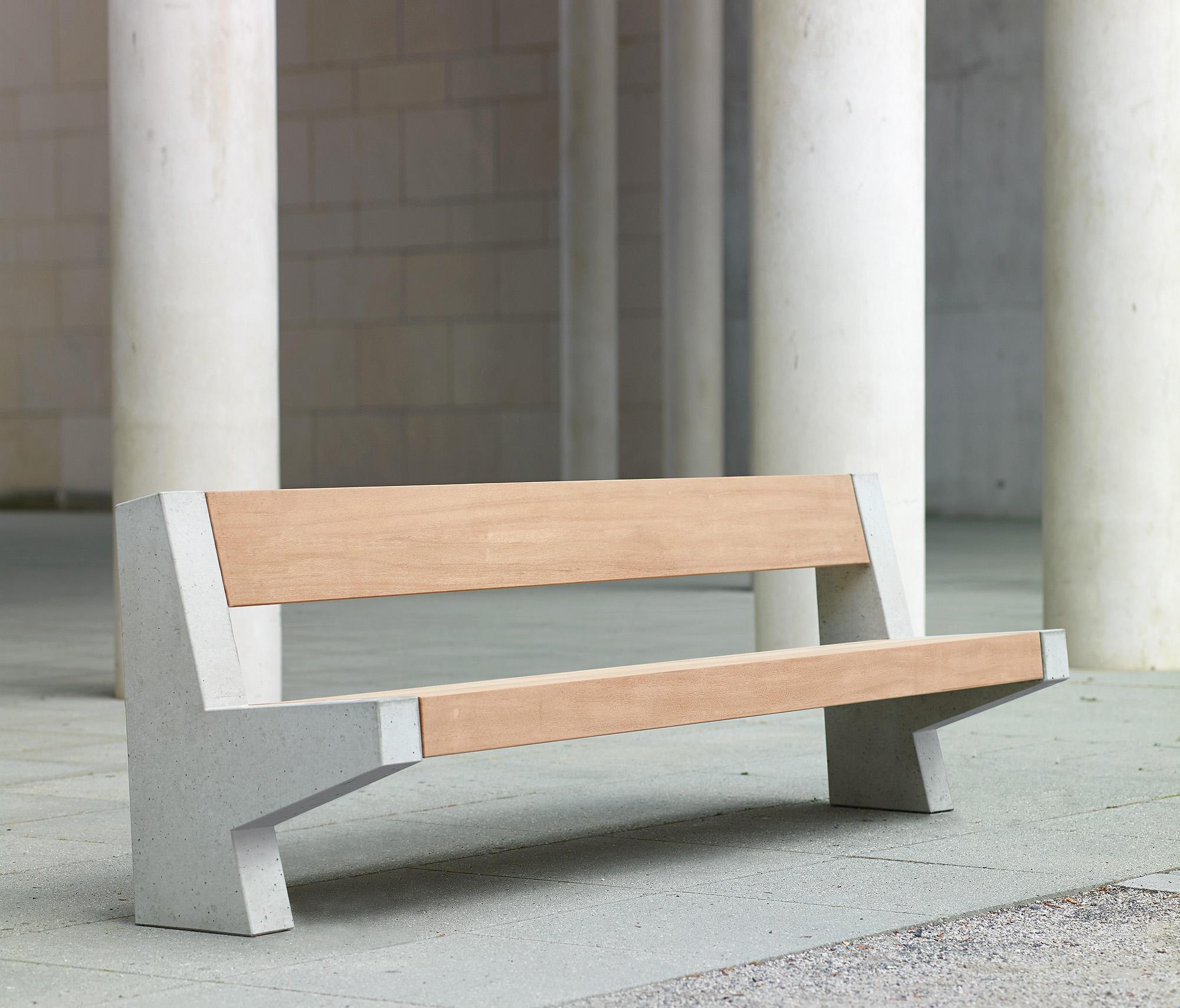 Tremendous Versio Juno Bench With Slats Large Concrete Feet Light Grey Beatyapartments Chair Design Images Beatyapartmentscom