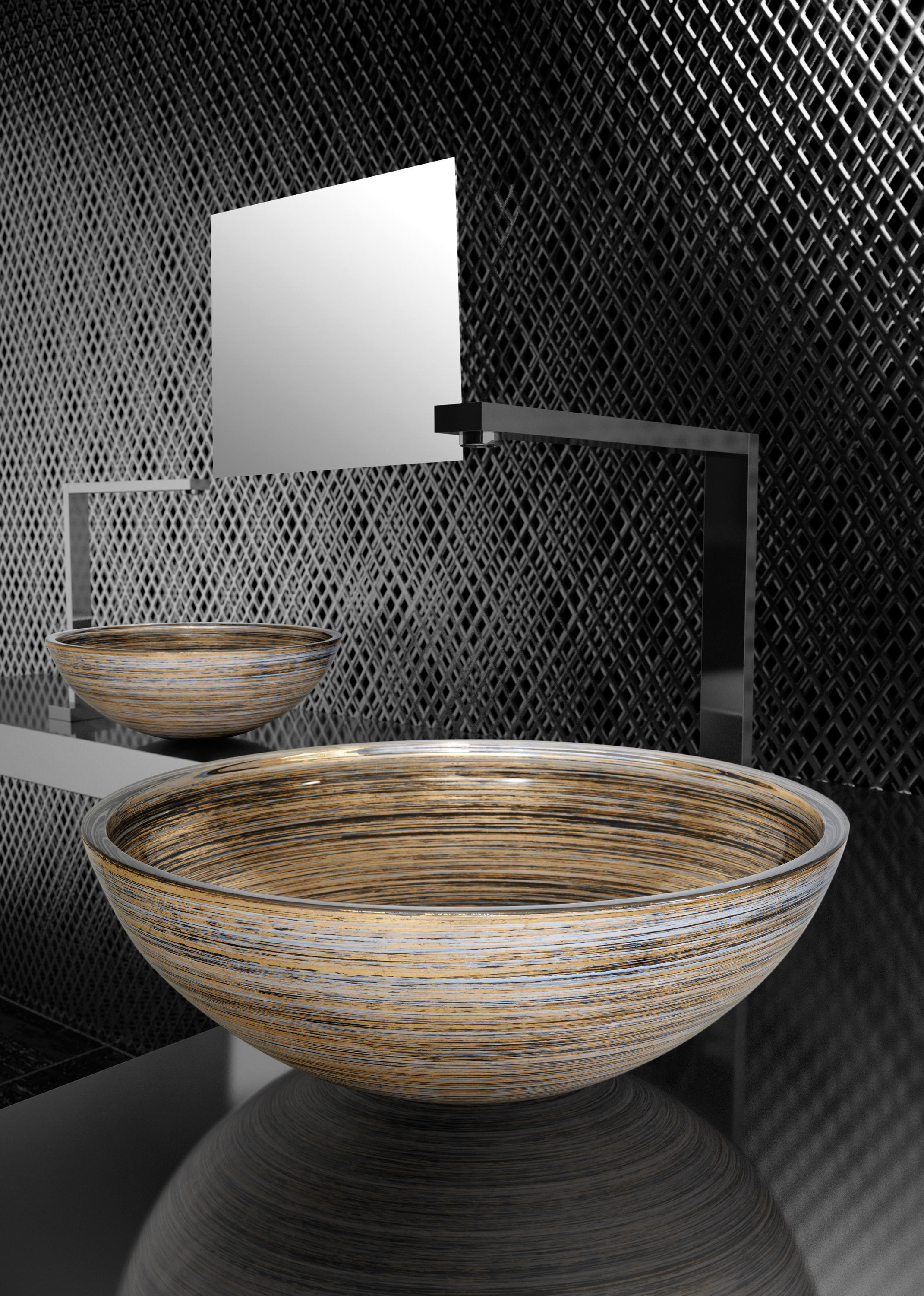 graffiti wash basins from glass design architonic. Black Bedroom Furniture Sets. Home Design Ideas