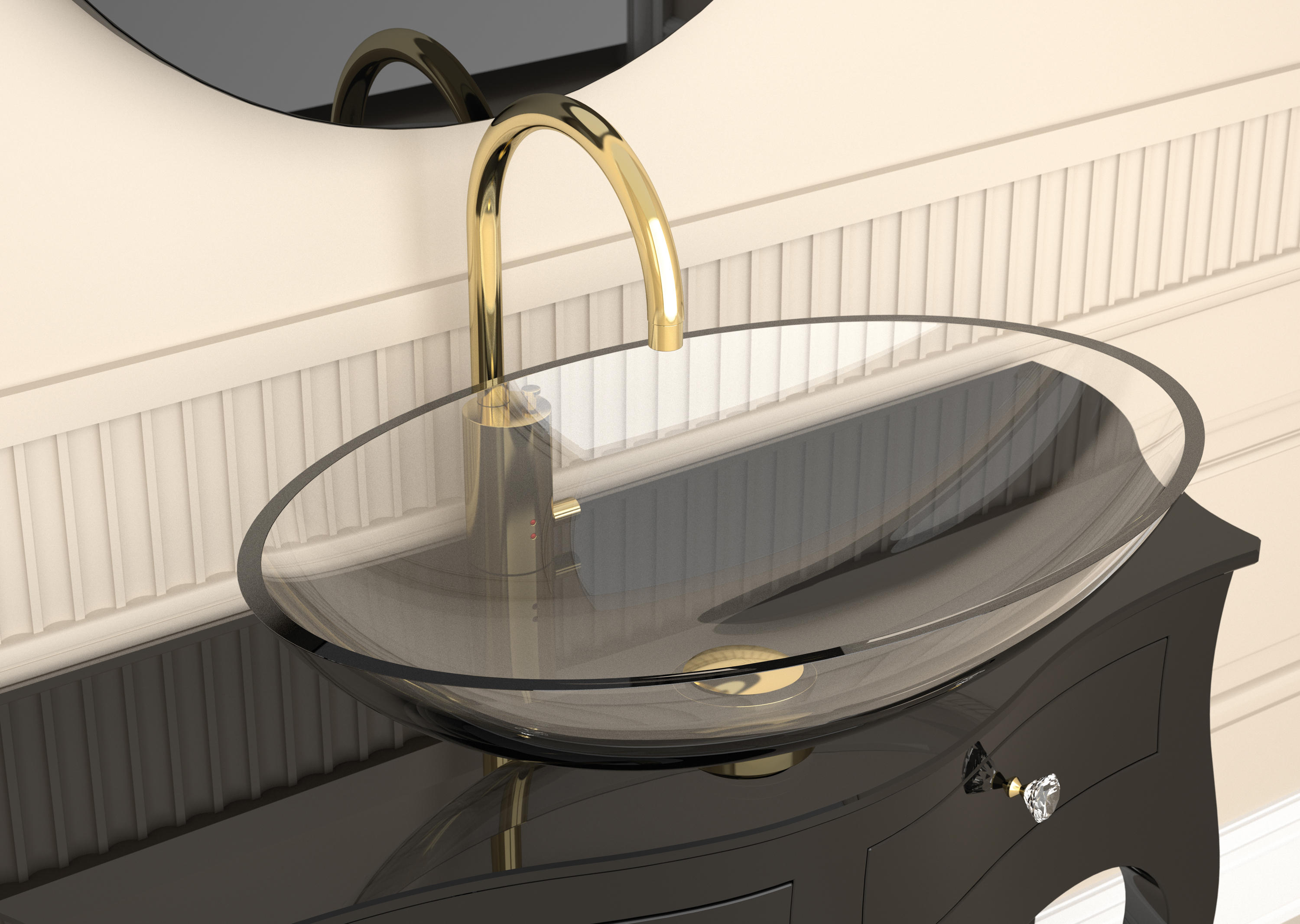 Flou Wash Basins From Glass Design Architonic