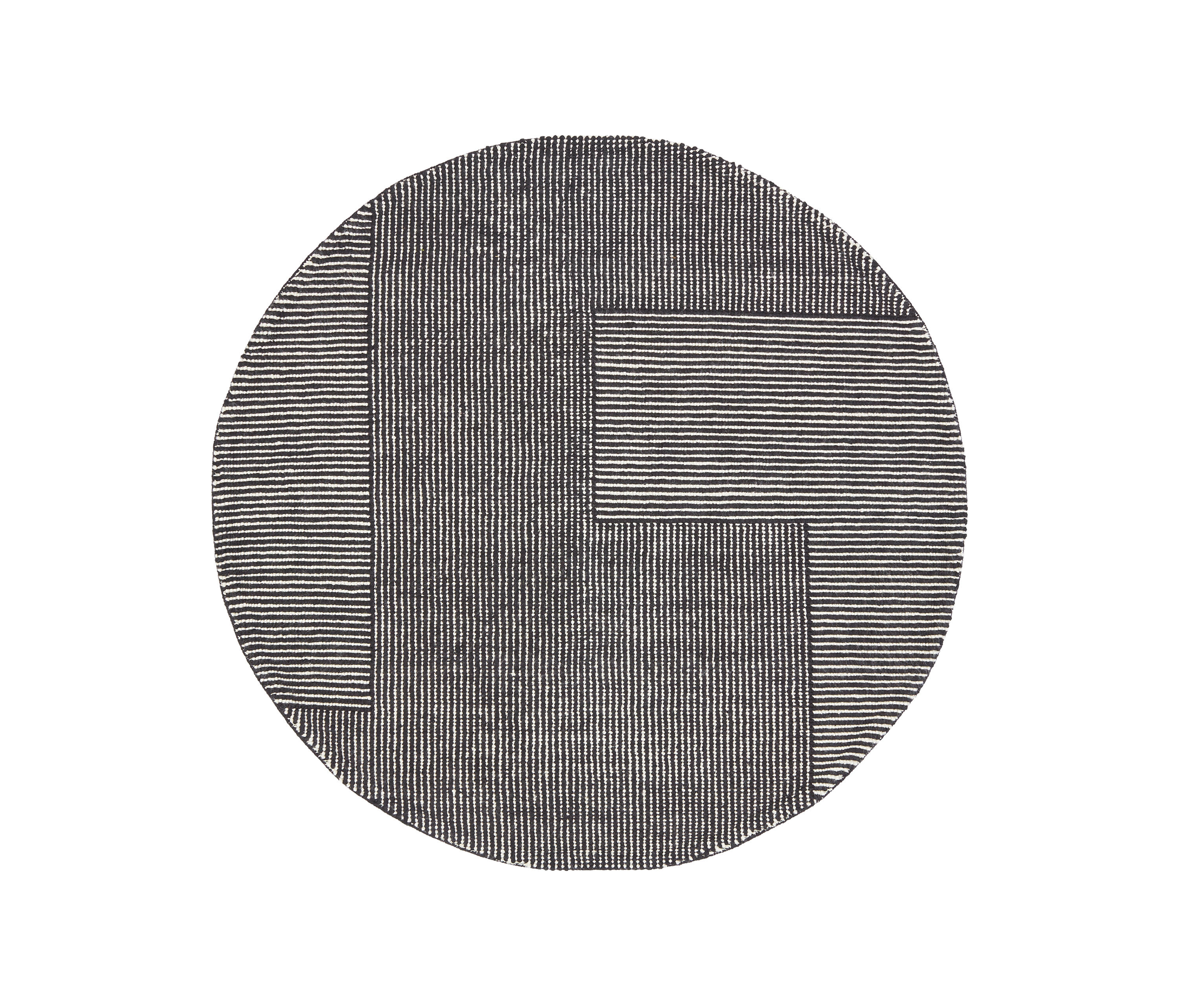 Stripe rug round black and white rugs from tom dixon - Black and white rug ...