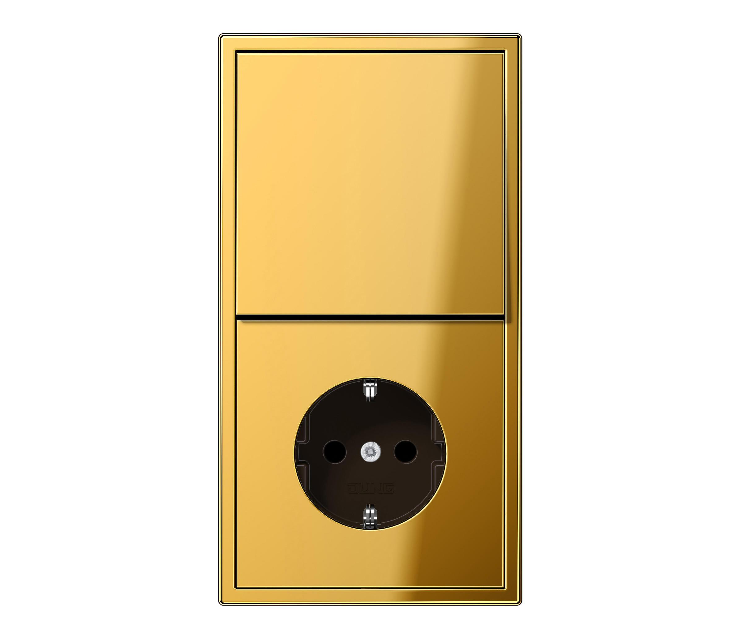 ls 990 goldfarben schalter steckdosenkombination stecker schalter kombinationen schuko von. Black Bedroom Furniture Sets. Home Design Ideas