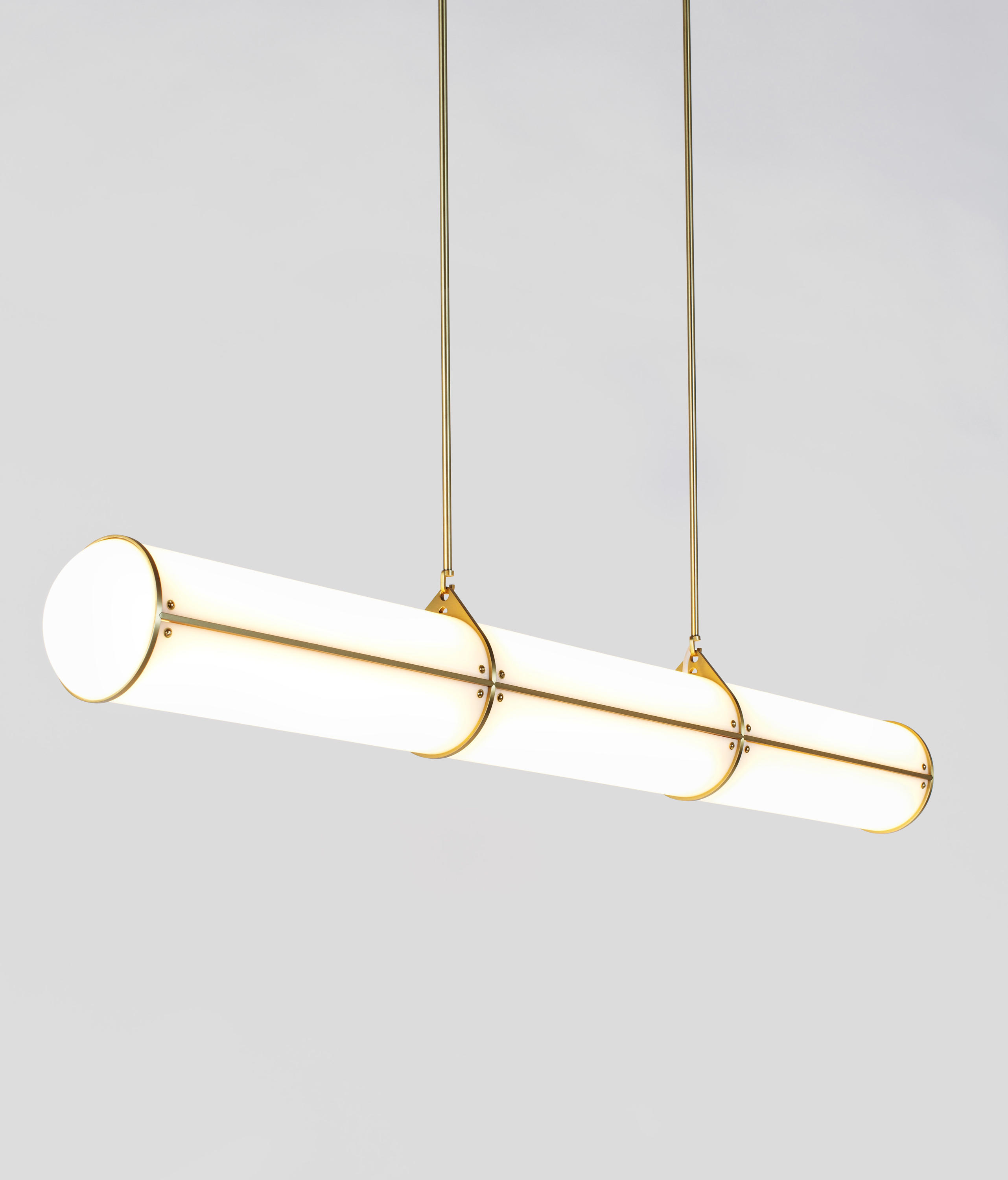 endless straight 3 units brass general lighting from roll hill architonic. Black Bedroom Furniture Sets. Home Design Ideas