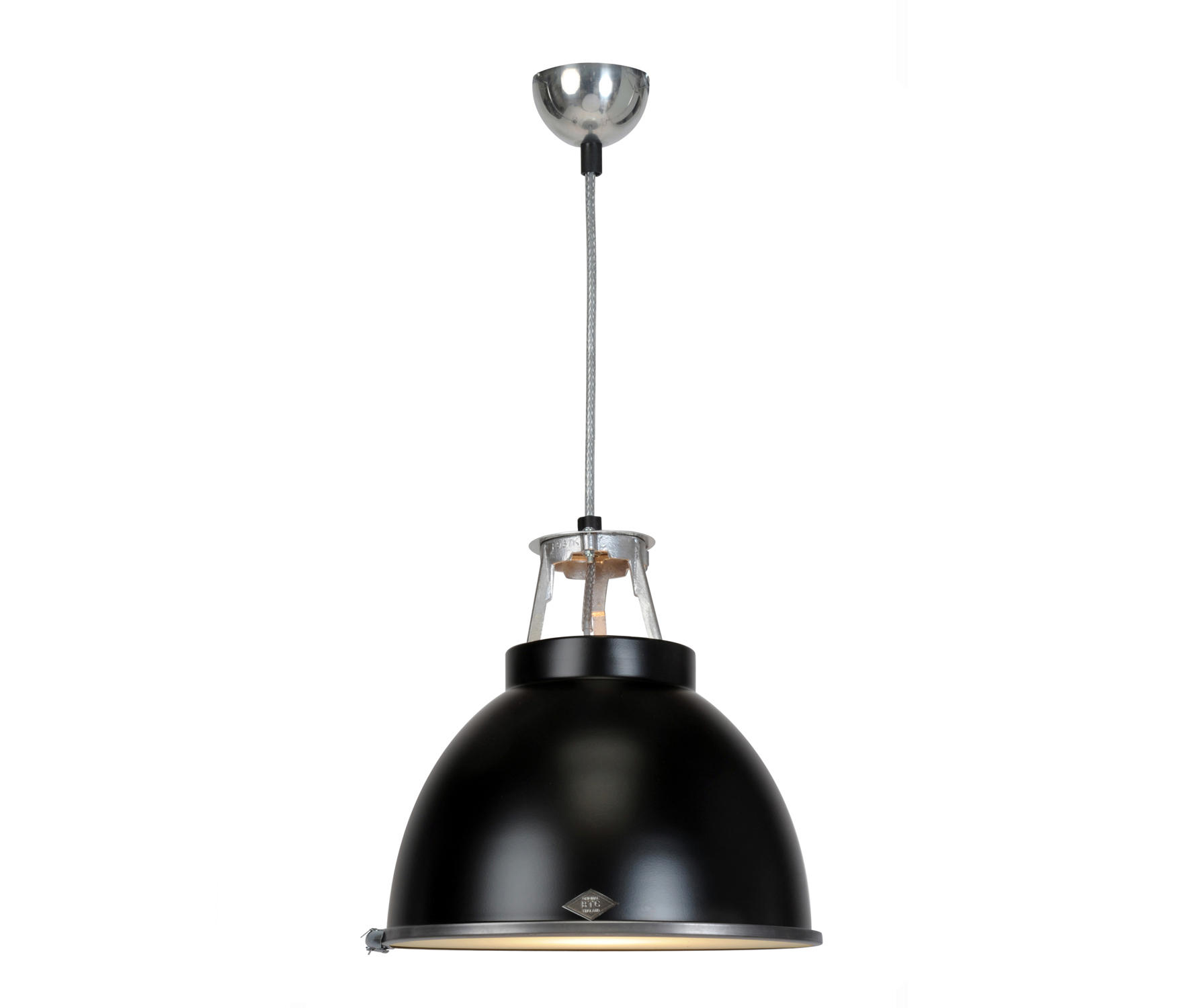 An Size 1 Pendant Light Black With Etched Gl By Original Btc General Lighting
