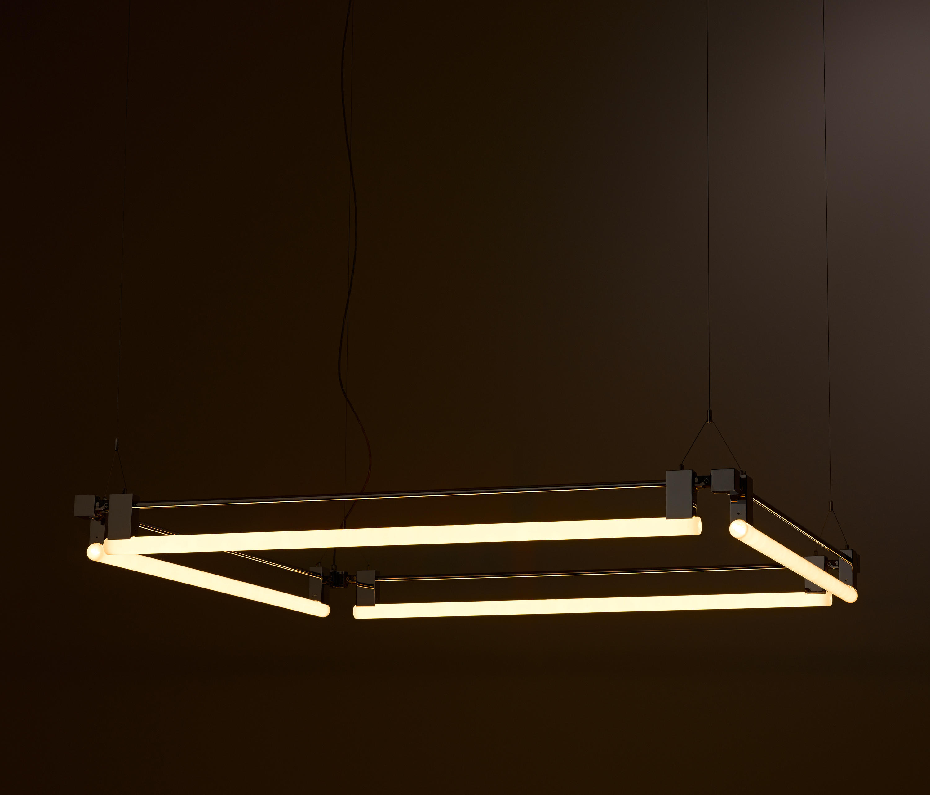 Eon suspension light square general lighting from kaia for Suspension 4 lampes