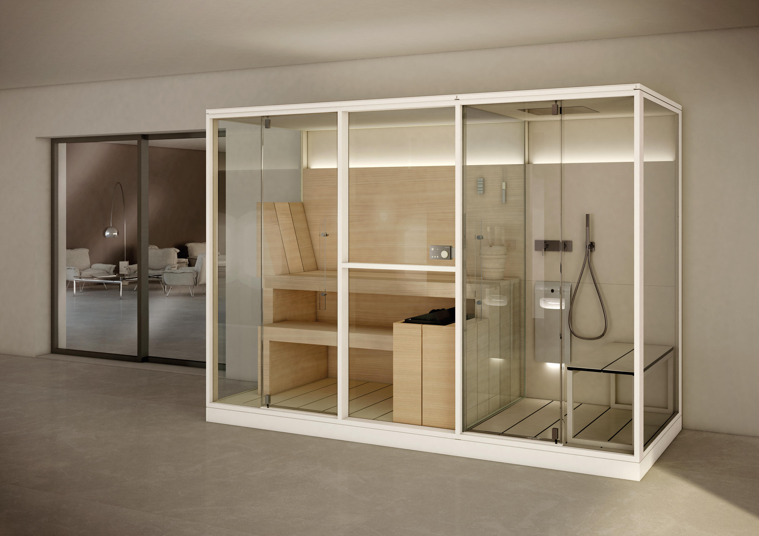Logica Twin Mid Saunas From Effegibi Architonic