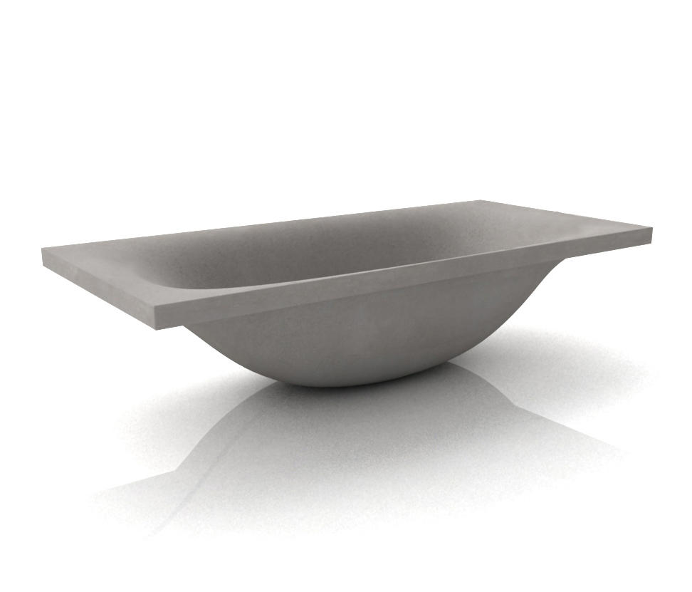 Wave Bathtub By Dade Design AG Concrete Works Beton | Free Standing Baths  ...