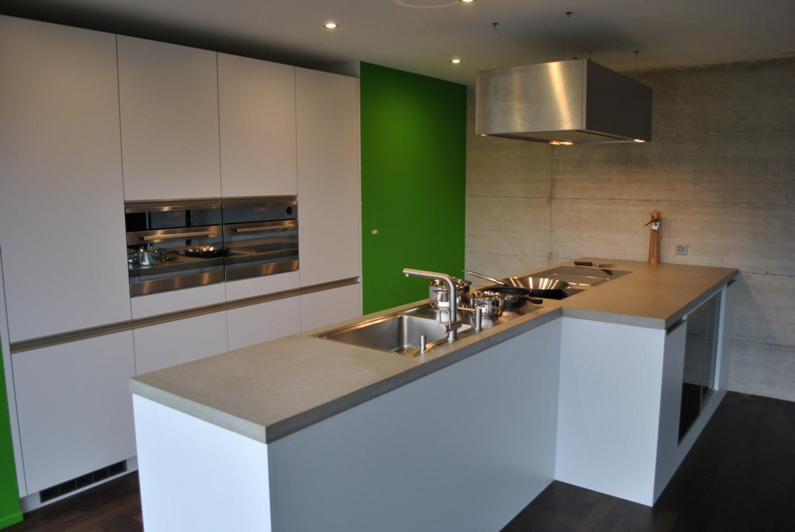 Concrete kitchen design example countertops by dade for Kitchen design examples