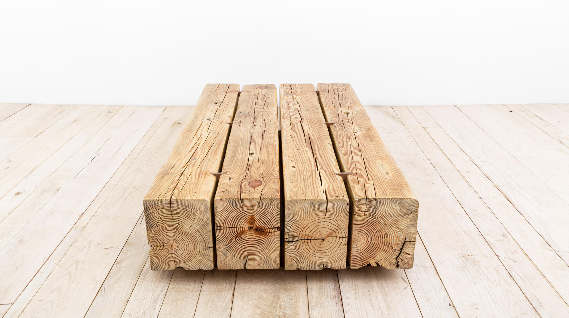 Beam coffee table lounge tables from uhuru design for Wood beam coffee table