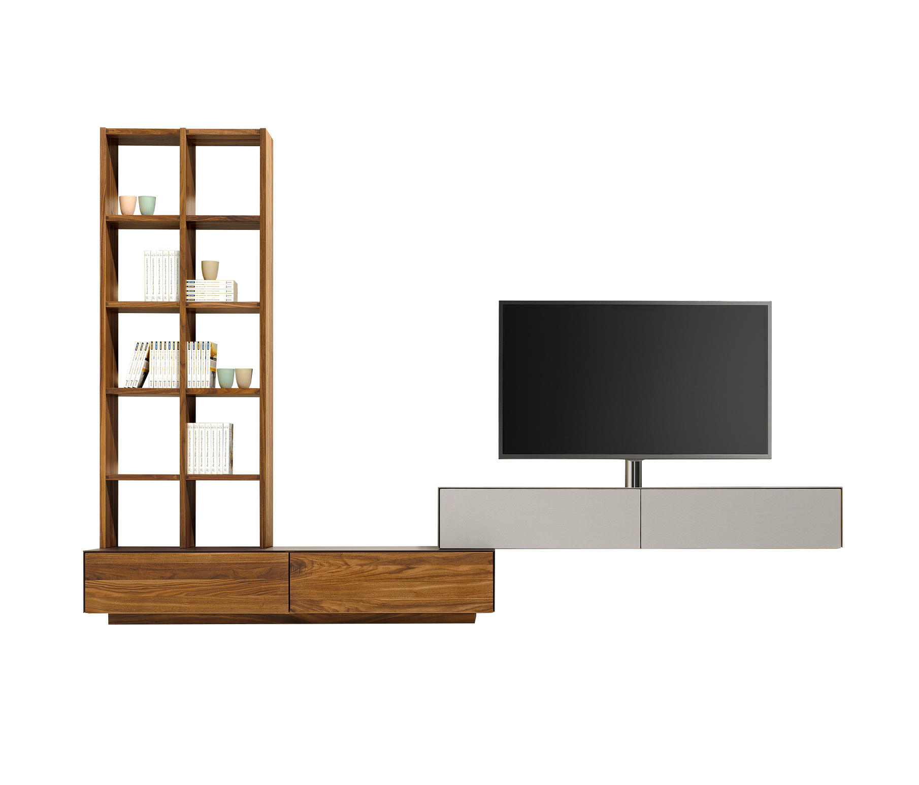 cubus pure wall storage system conjuntos de sal n de. Black Bedroom Furniture Sets. Home Design Ideas