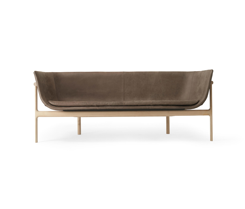 Tailor Lounge Sofa Natural Oak Dark Brown By Menu Sofas