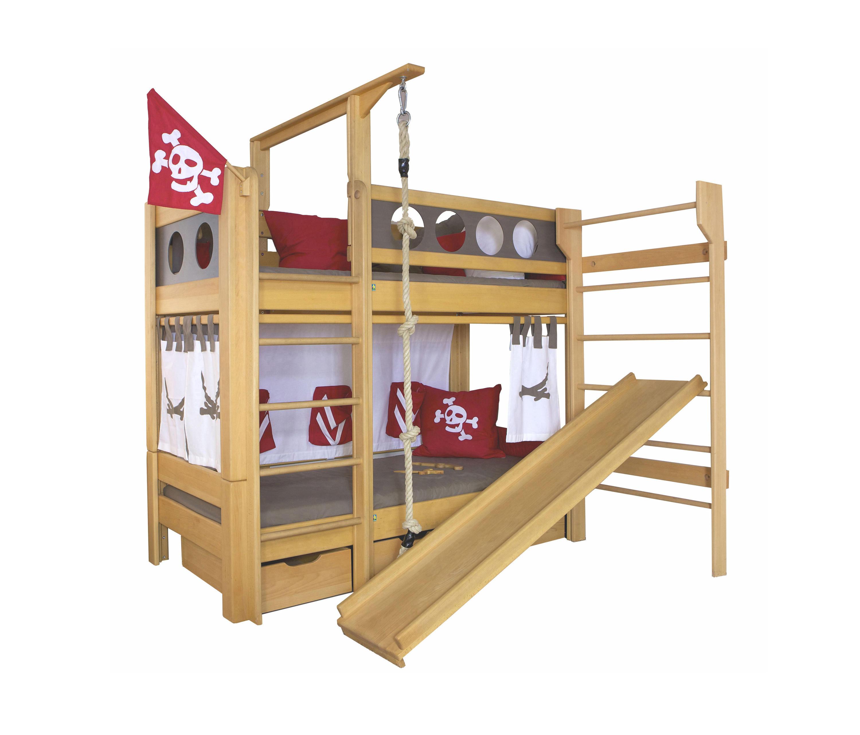 Kinderbetten mit rutsche m dchen kinderbett lina mit for Kinderzimmer lina