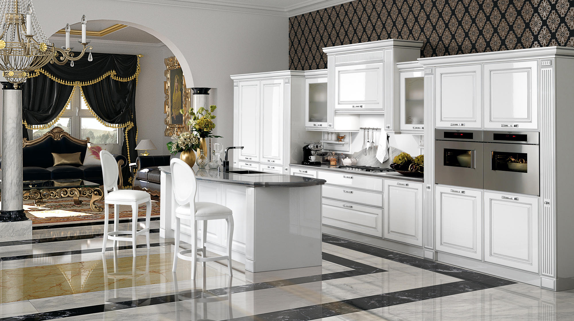 mirabeau fitted kitchens from veneta cucine architonic. Black Bedroom Furniture Sets. Home Design Ideas