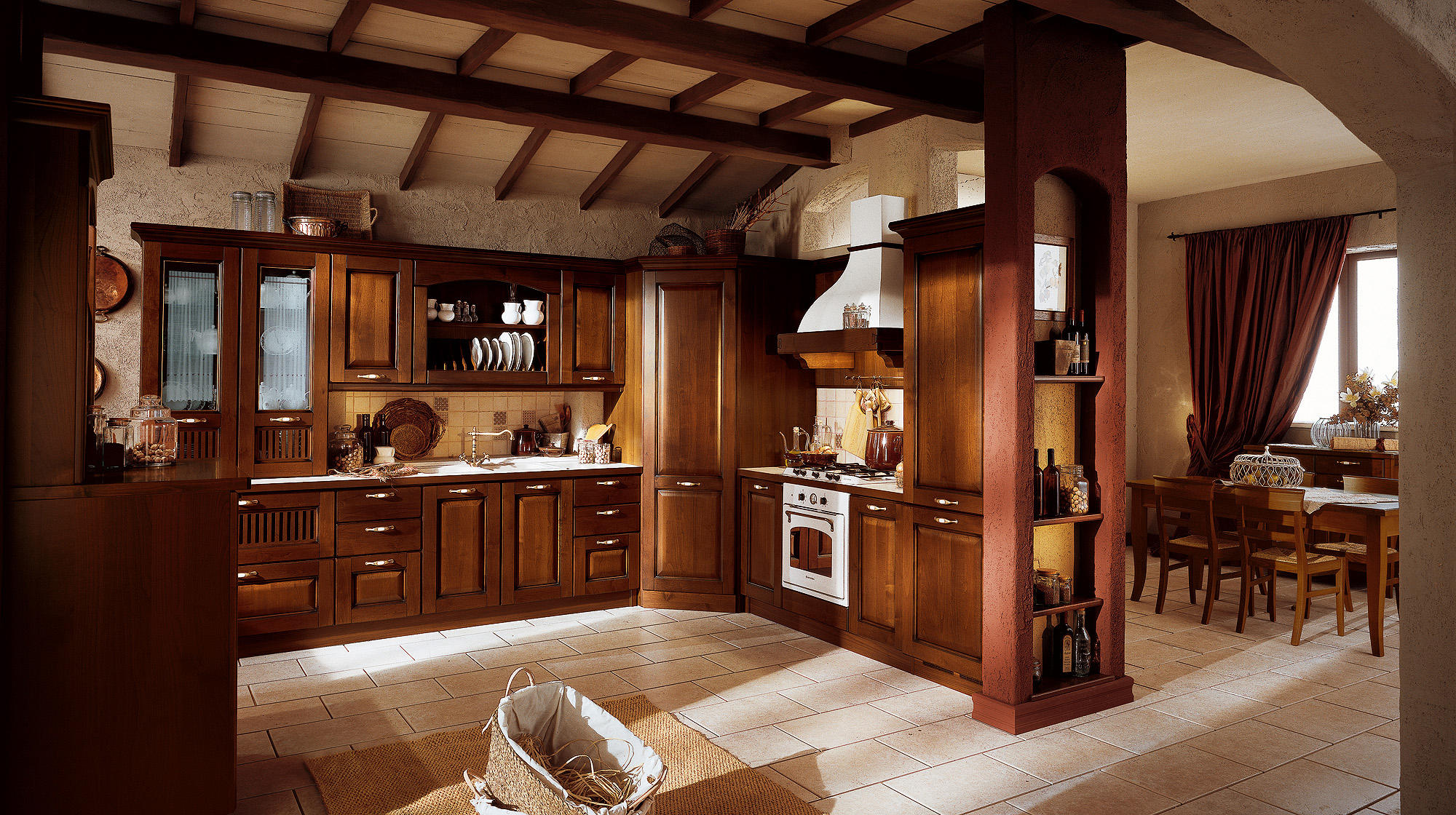 Verdiana cucine a parete veneta cucine architonic for Arredamento rustico elegante