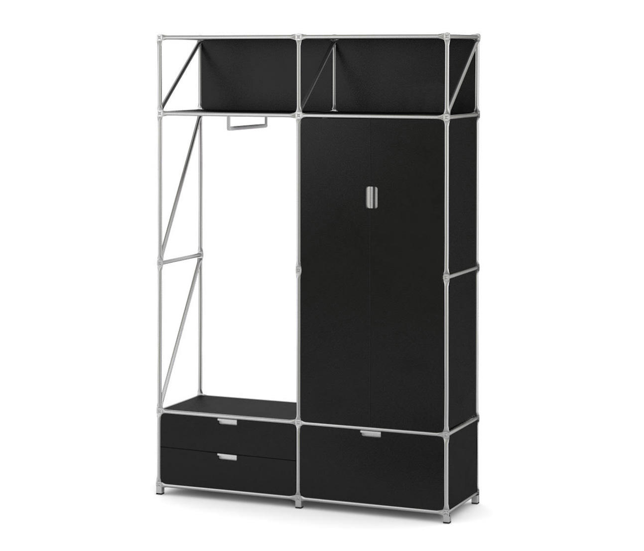 gaderobe schwarz guardarropas de system 180 architonic. Black Bedroom Furniture Sets. Home Design Ideas