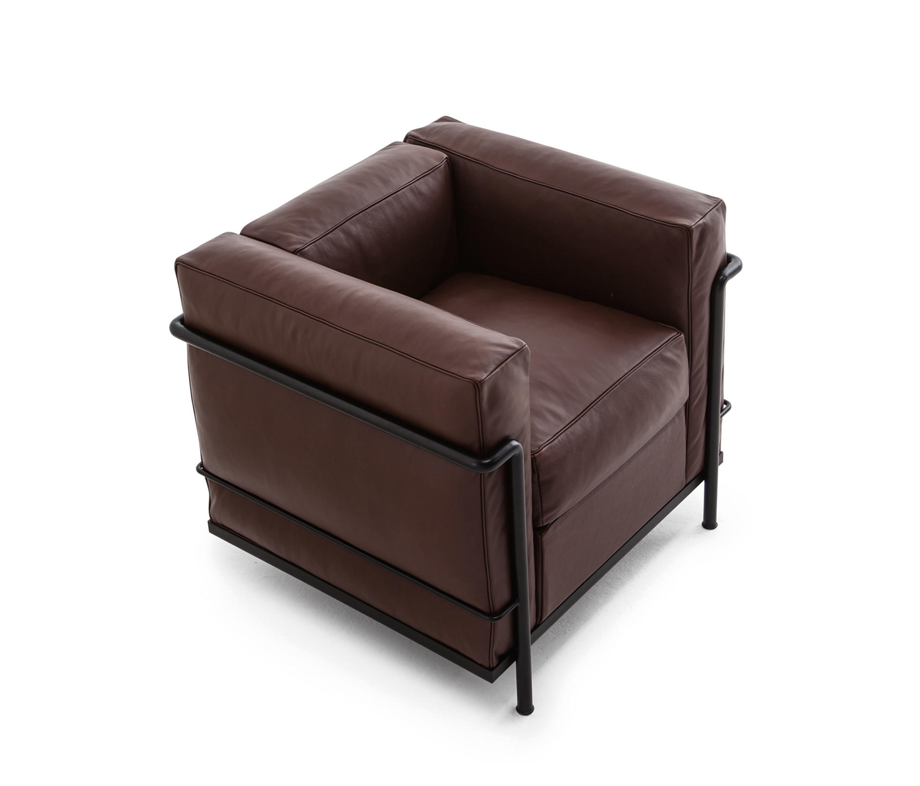 Lc2 armchair organic leather armchairs from cassina for Cassina spa meda