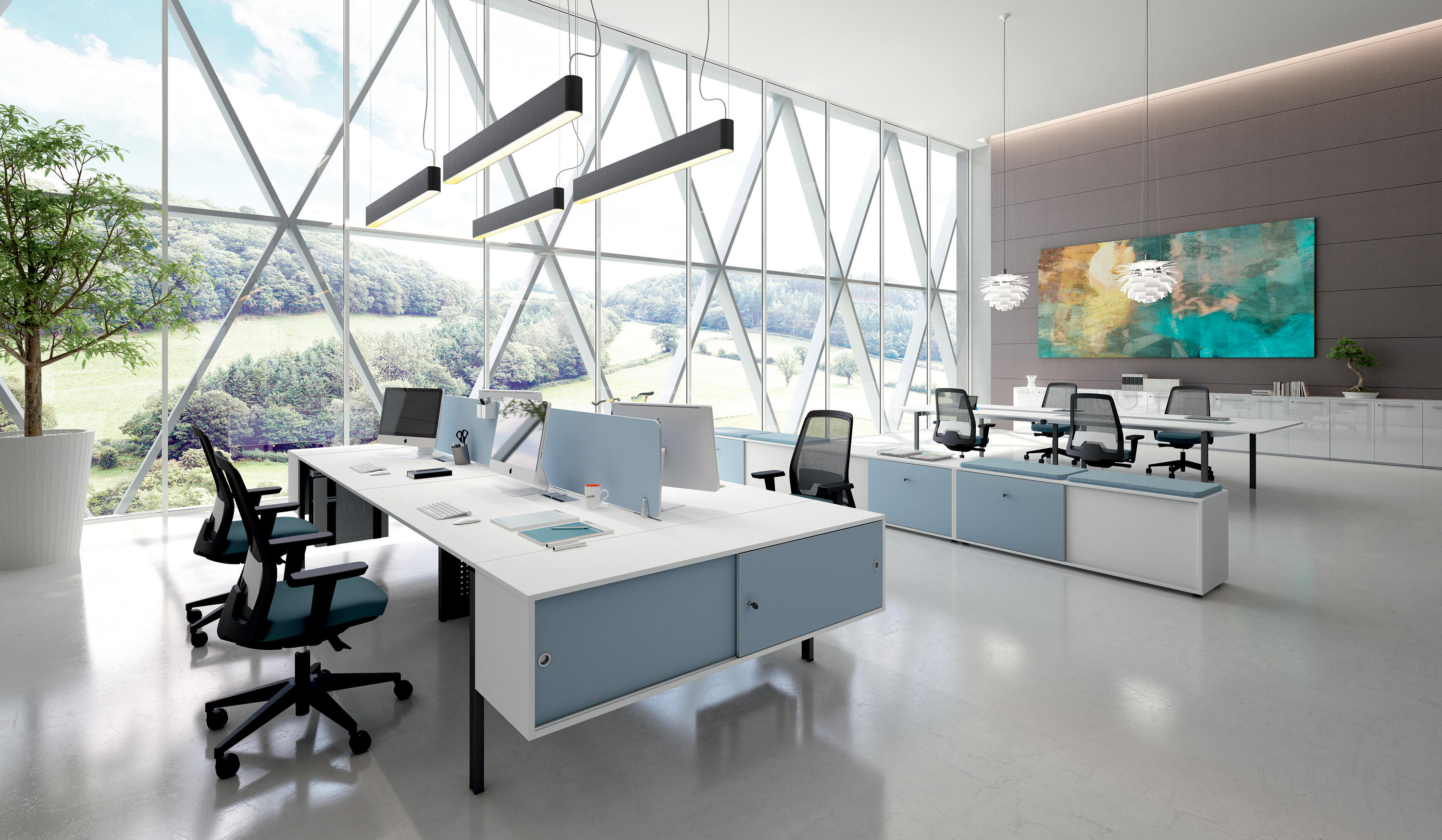 dv802 desking systems from dvo architonic. Black Bedroom Furniture Sets. Home Design Ideas