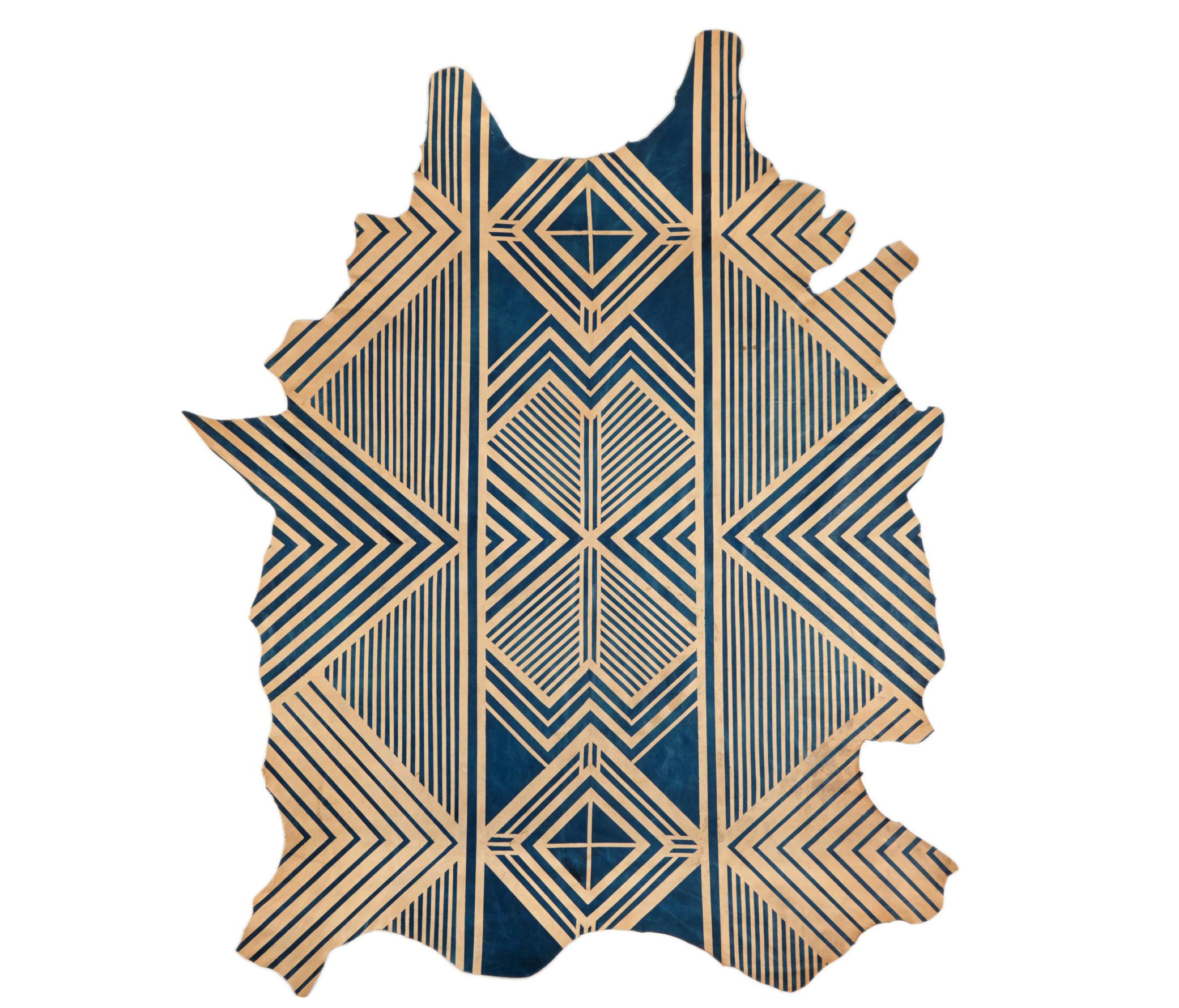 BLUE GEOMETRIC RUG - FULL HIDE - Rugs / Designer rugs from AVO ... on hide bar ideas, hide jewelry ideas, hide tv ideas,