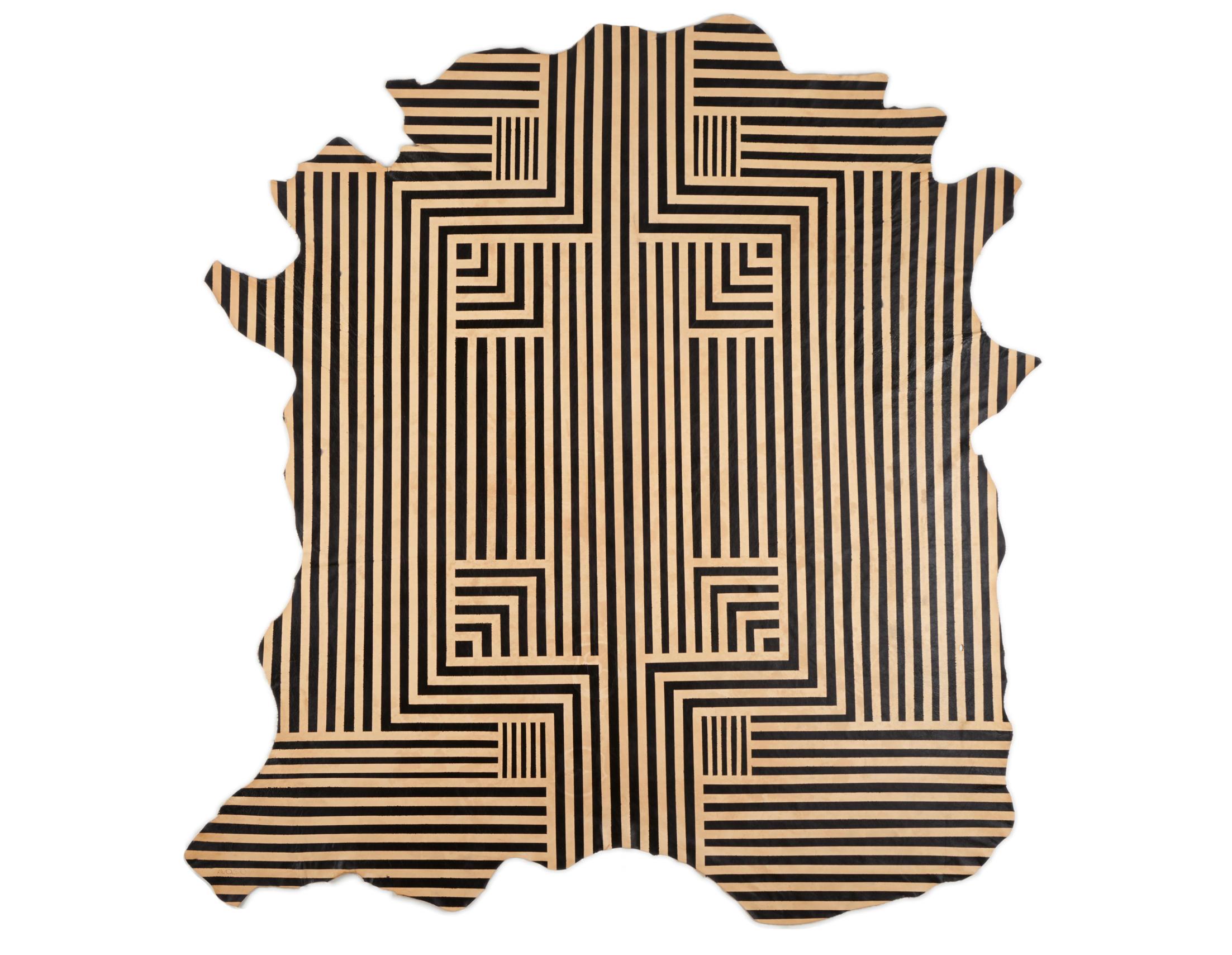 Designer Lines : Black lines rug full hide rugs designer from avo architonic