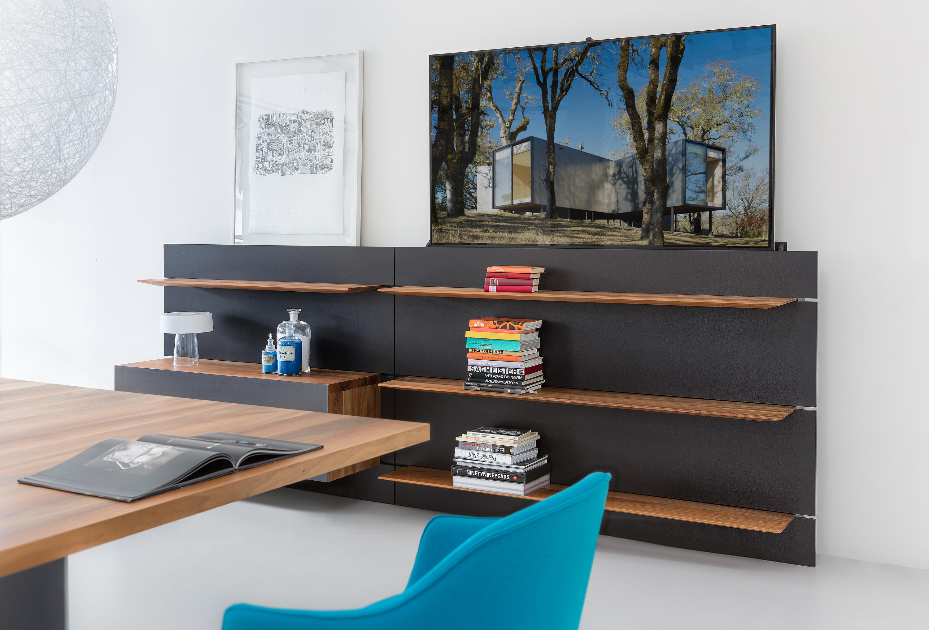 balance mediasystem panel wall - multimedia sideboards from zoom by