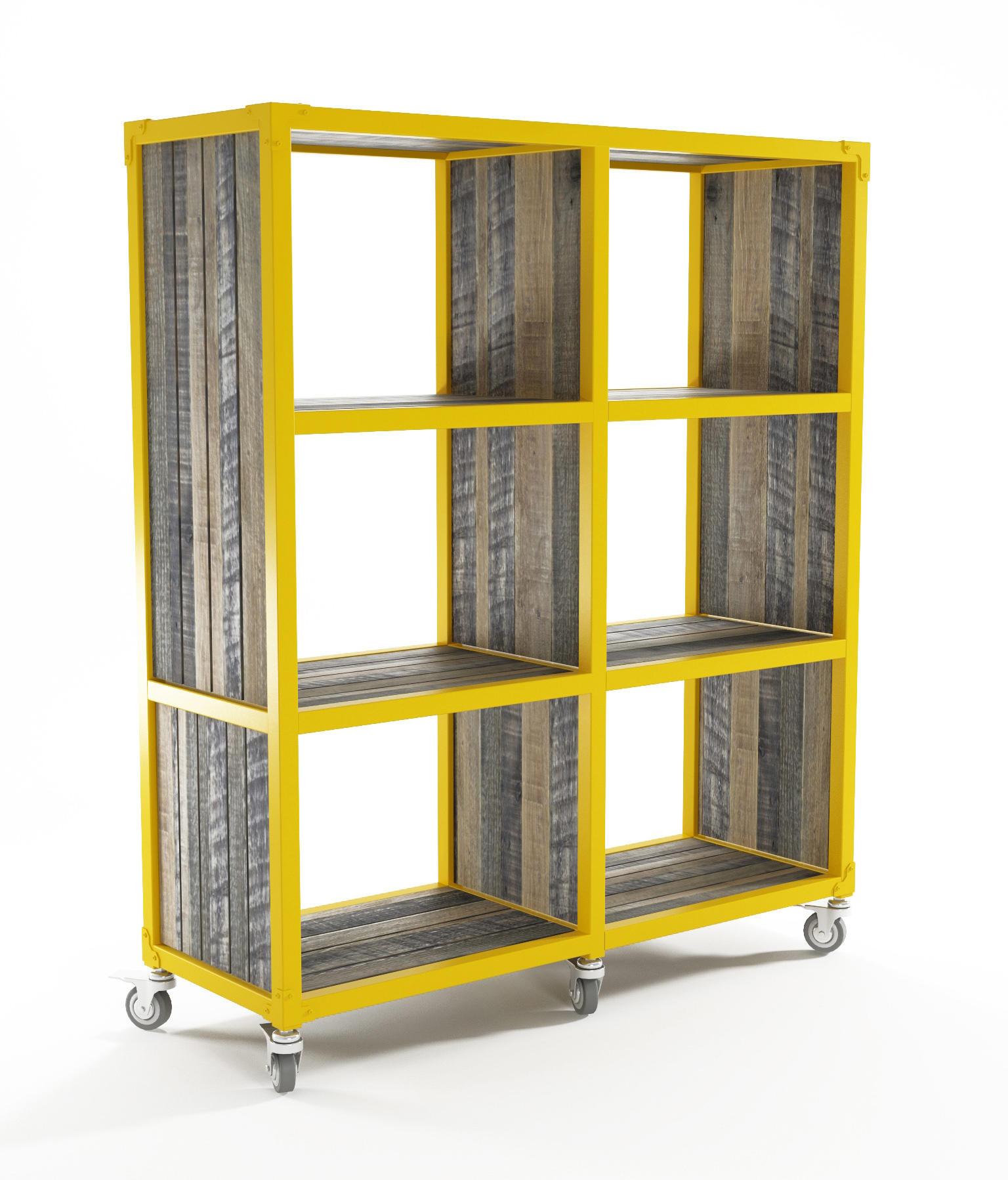 Atelier vertical rack 6 compartments estanter a de for Estanteria vertical